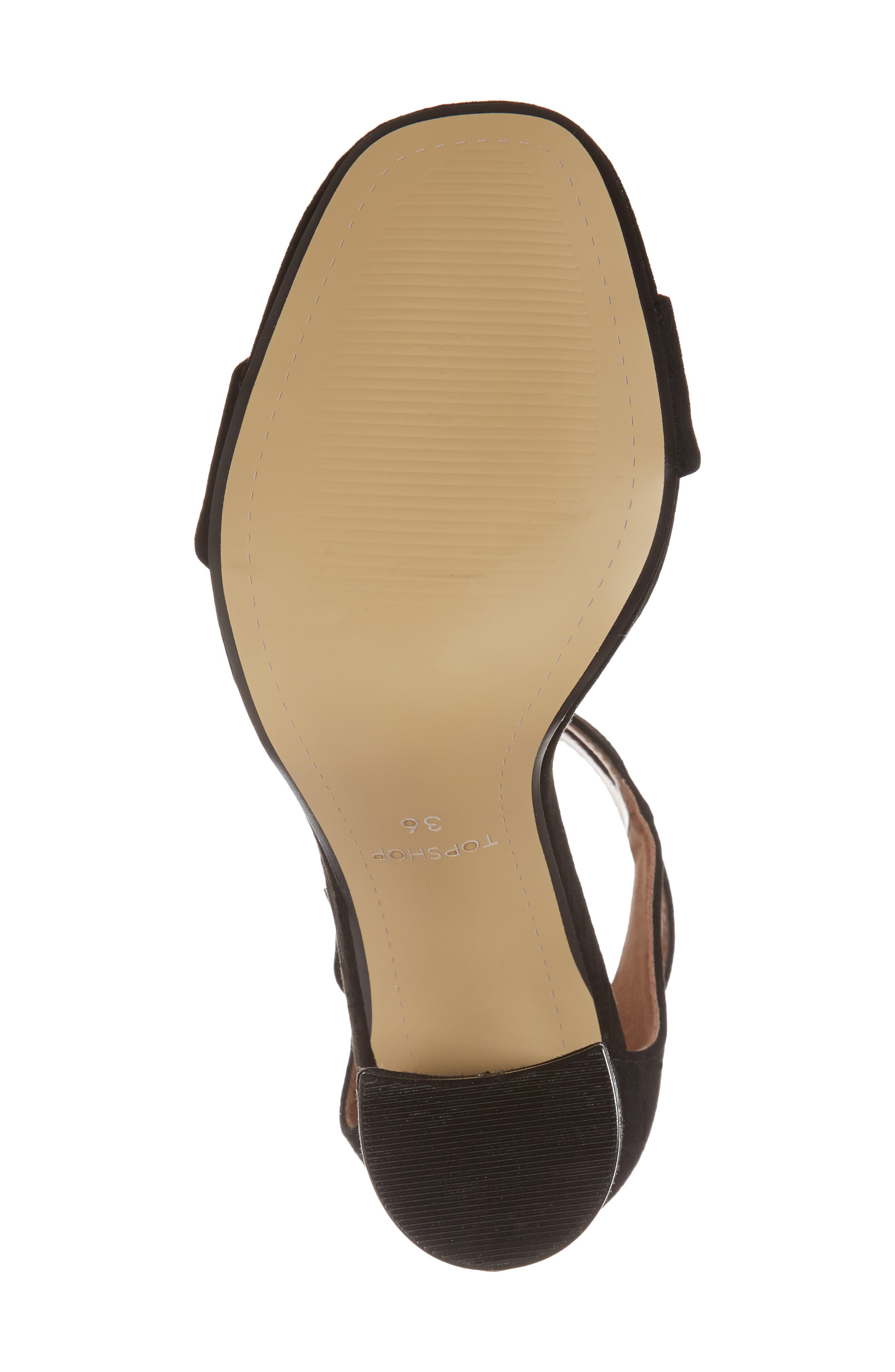 Sinitta Crossover Sandal,                             Alternate thumbnail 6, color,                             Black