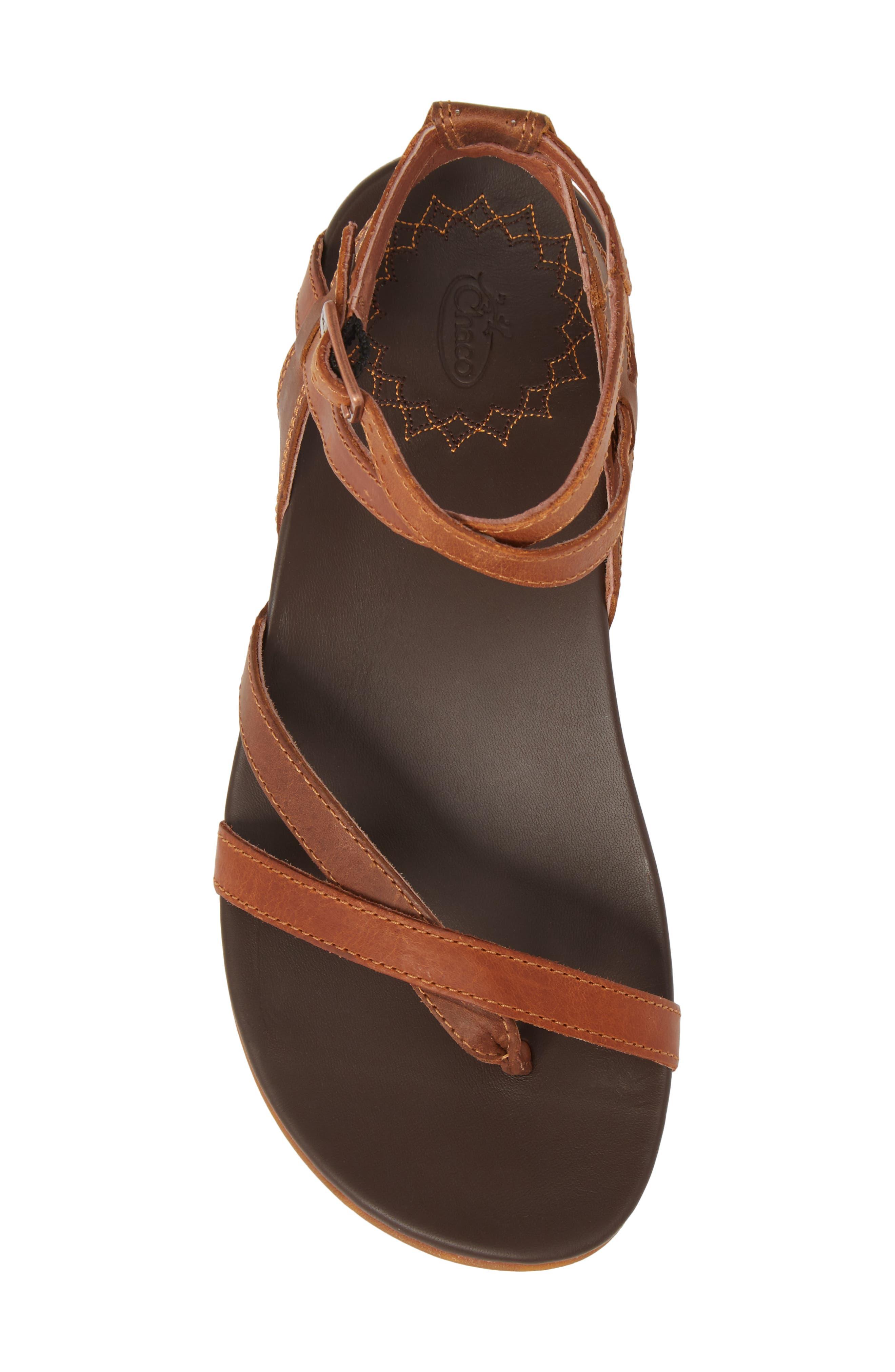 Juniper Sandal,                             Alternate thumbnail 5, color,                             Rust Leather