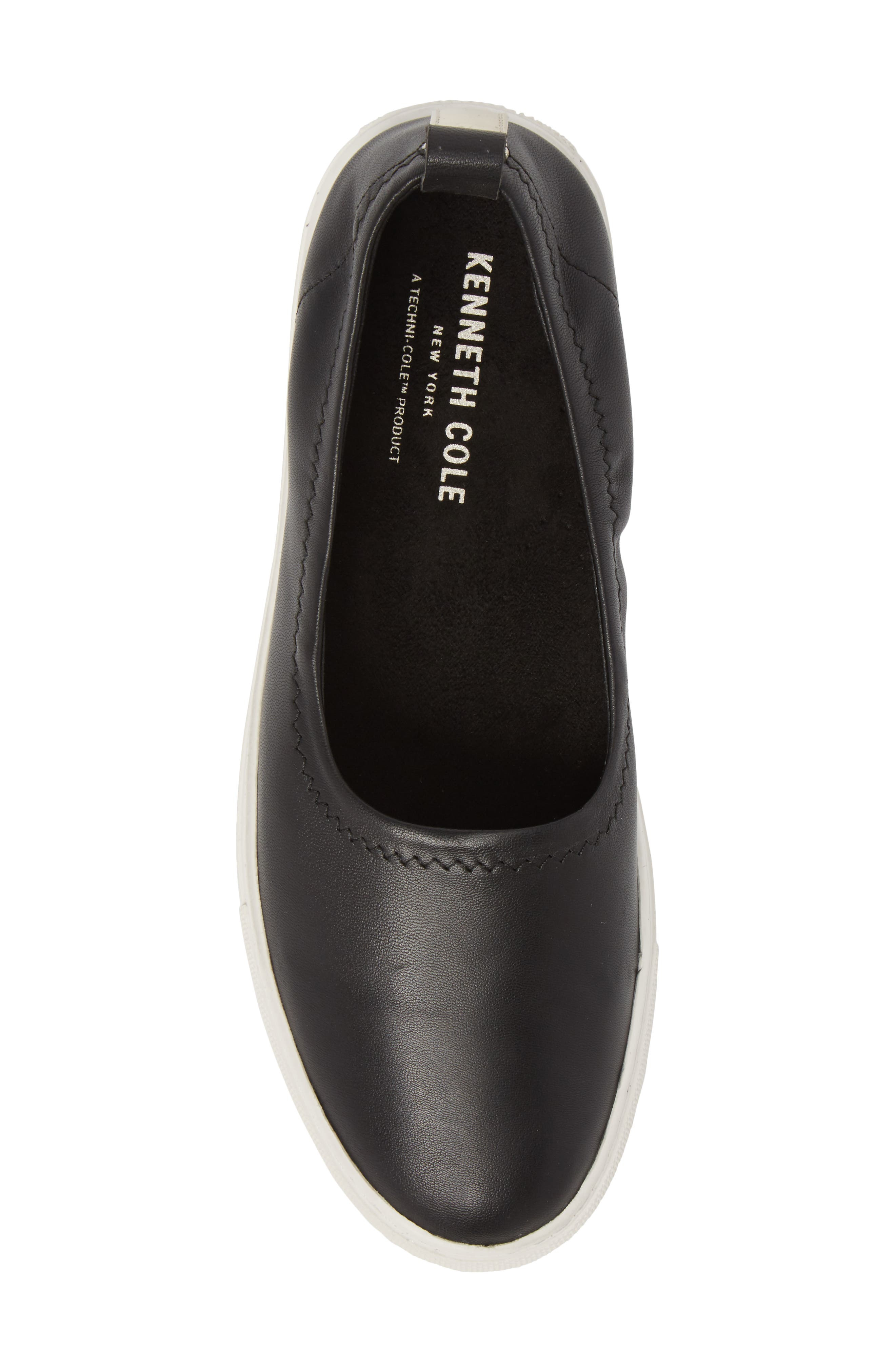 Kam Techni-Cole Ballet Flat,                             Alternate thumbnail 5, color,                             Black Leather