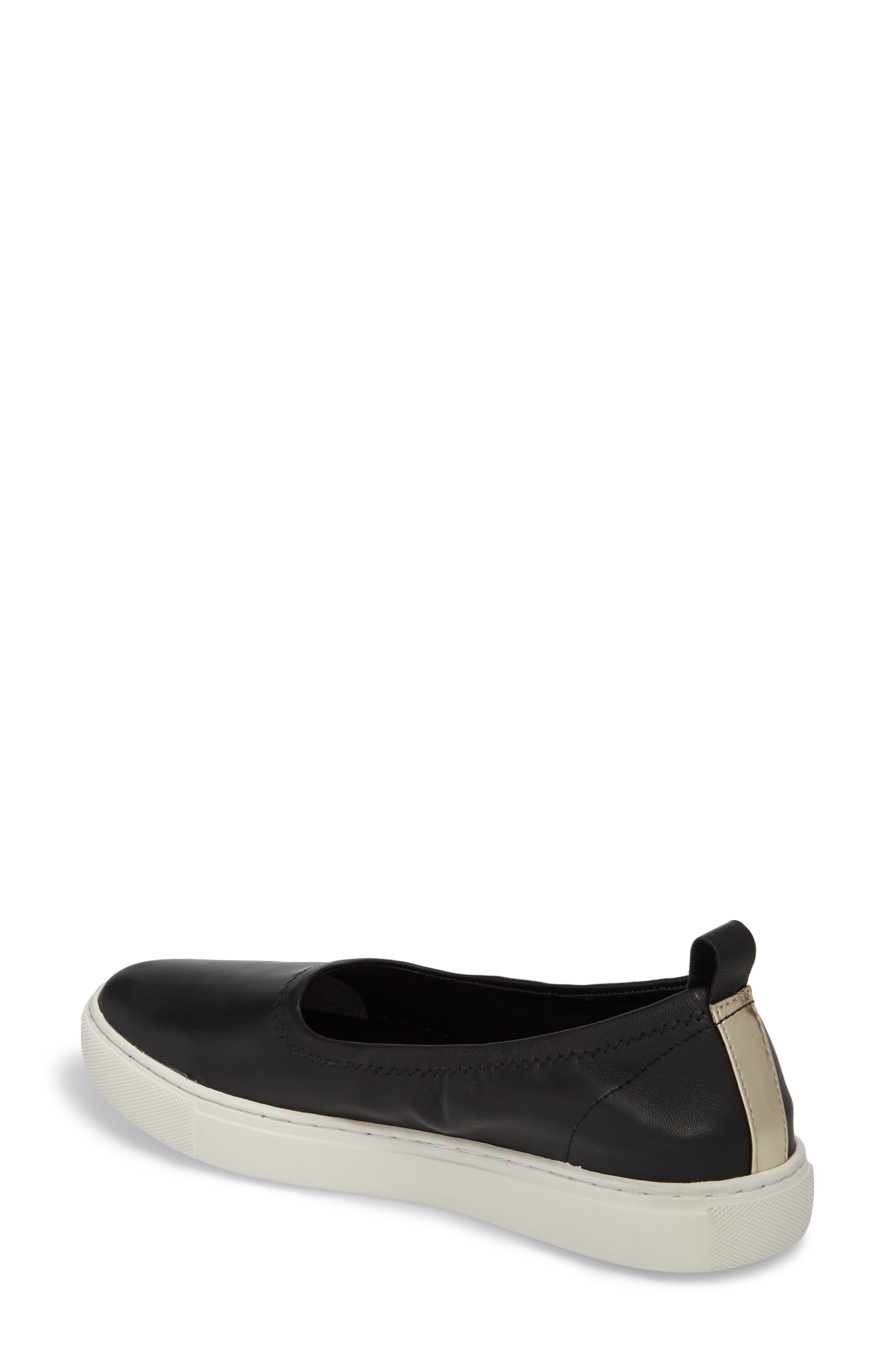 Kam Techni-Cole Ballet Flat,                             Alternate thumbnail 2, color,                             Black Leather