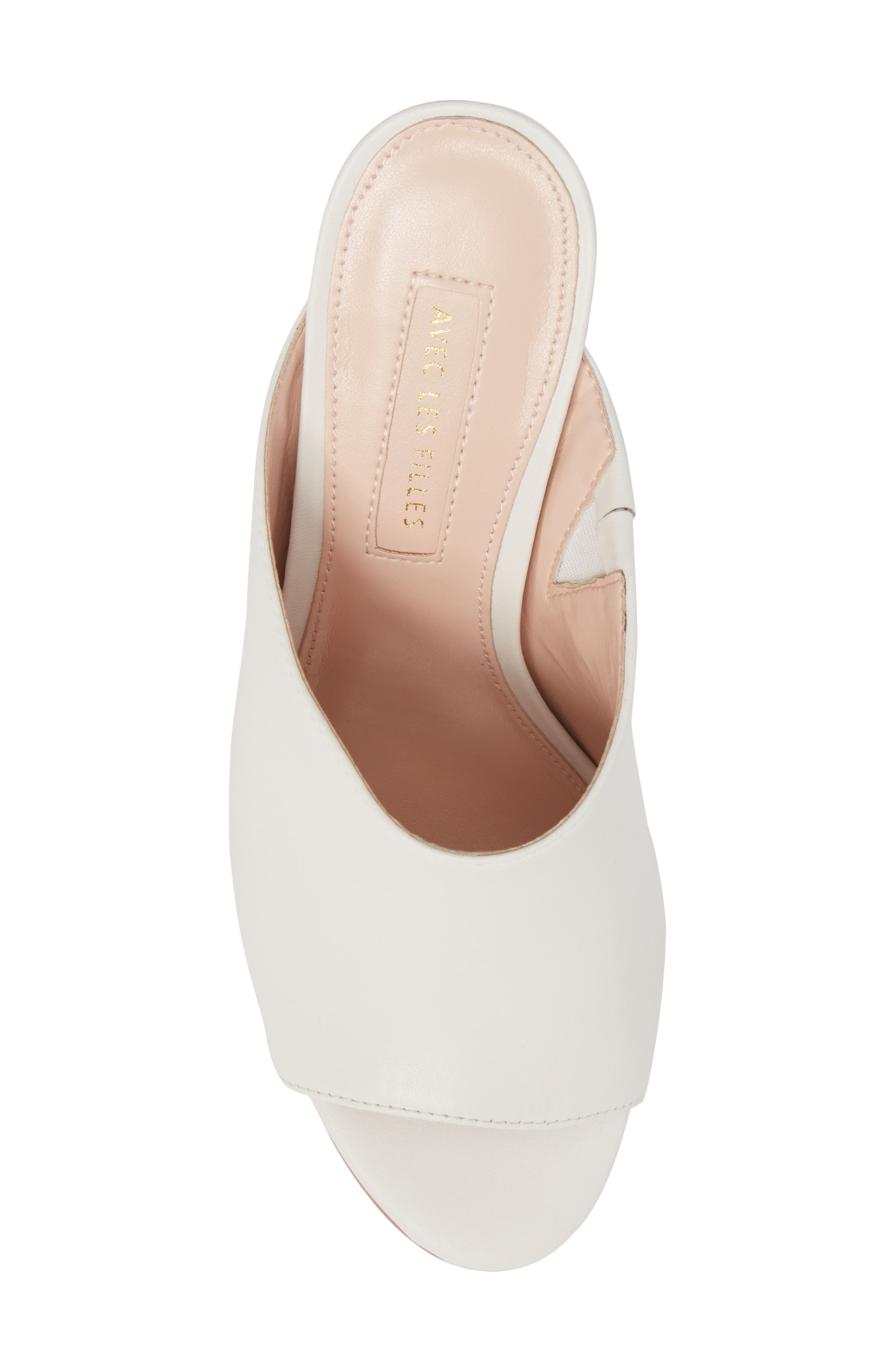 Jazz Off Sandal,                             Alternate thumbnail 5, color,                             Off White Leather