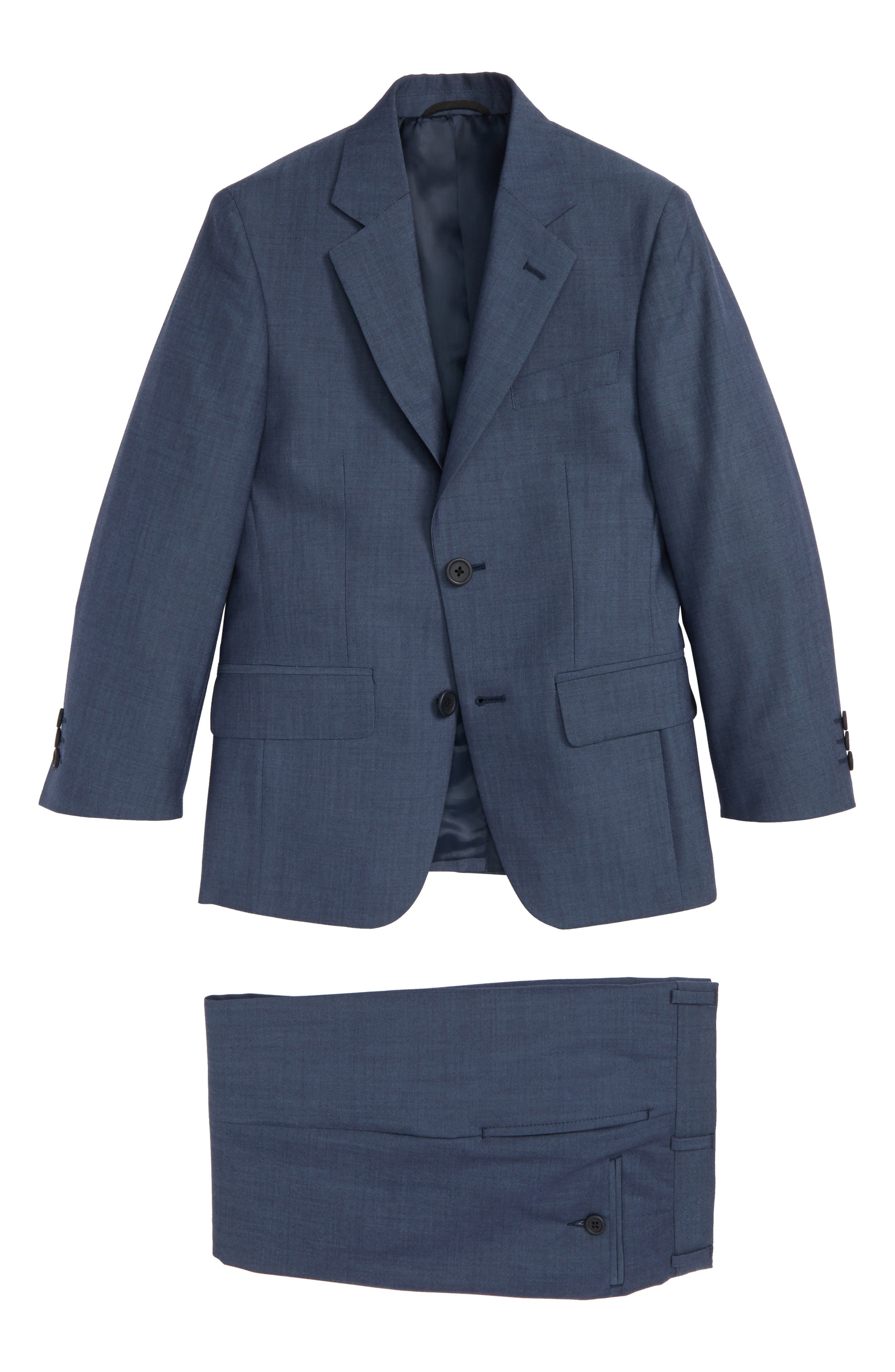 Wool Suit,                         Main,                         color, Blue