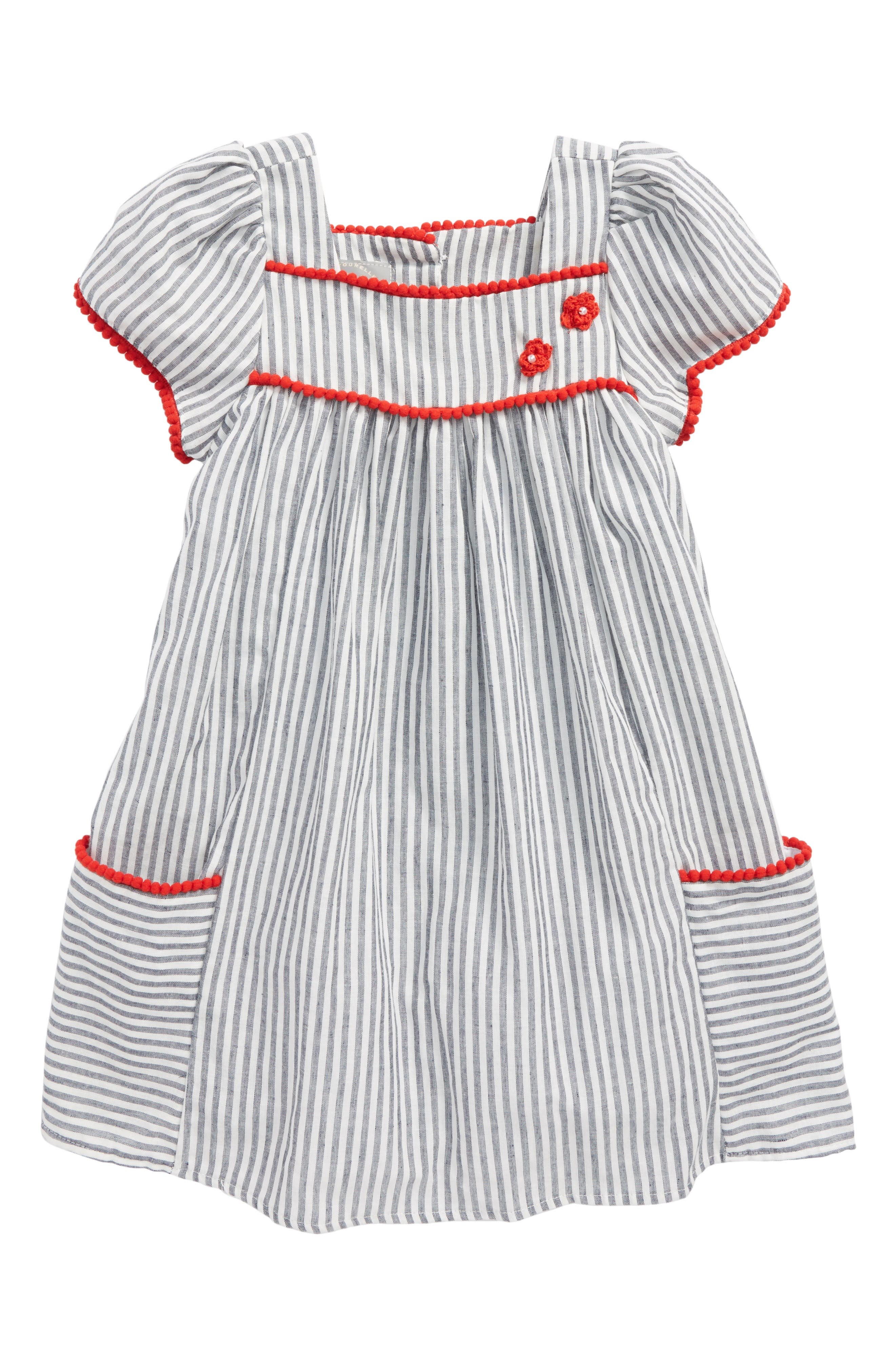 Pastourelle by Pippa and Julie Stripe House Dress (Toddler Girls & Little Girls)