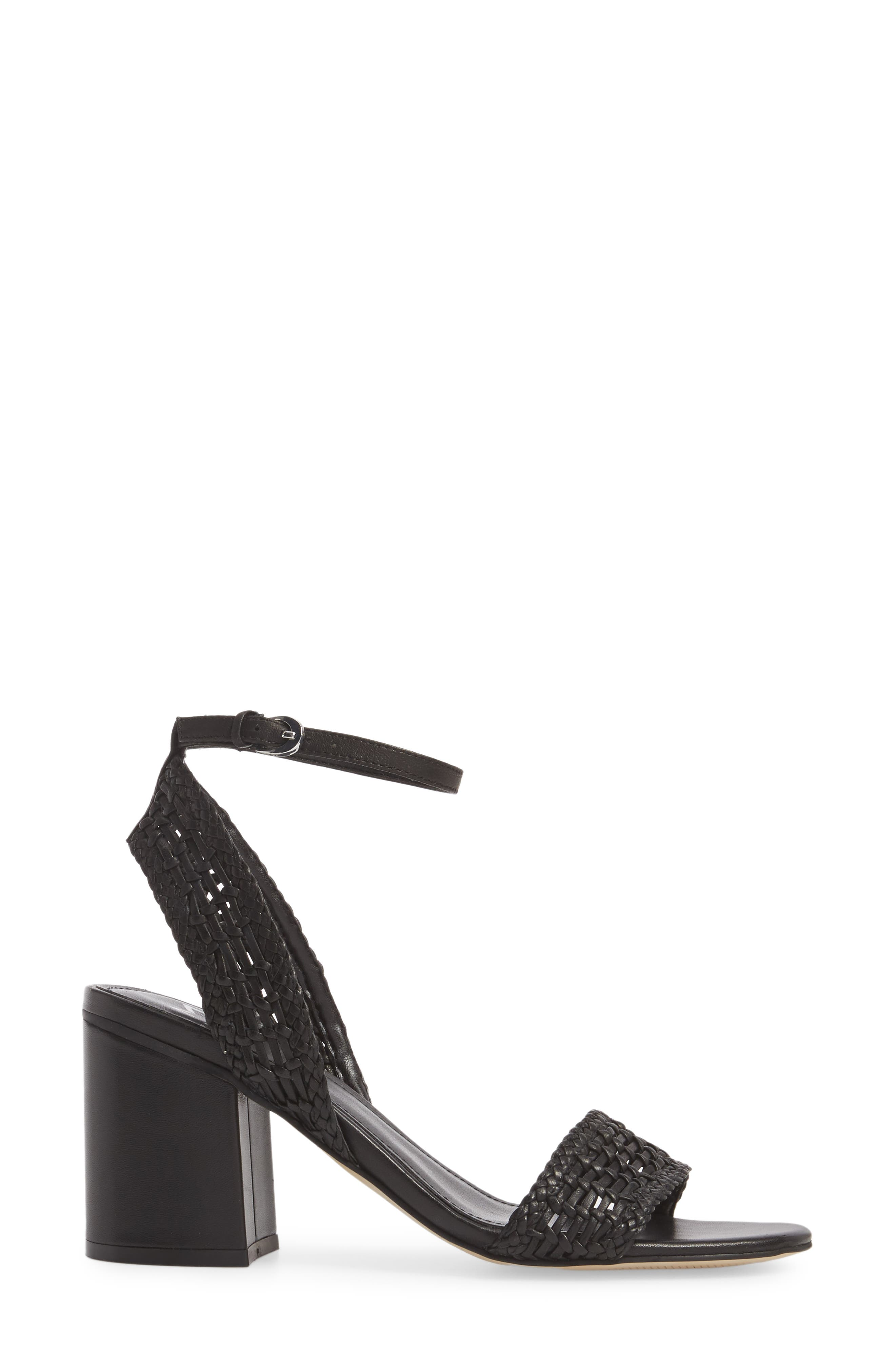 Amere Ankle Strap Sandal,                             Alternate thumbnail 3, color,                             Black Leather