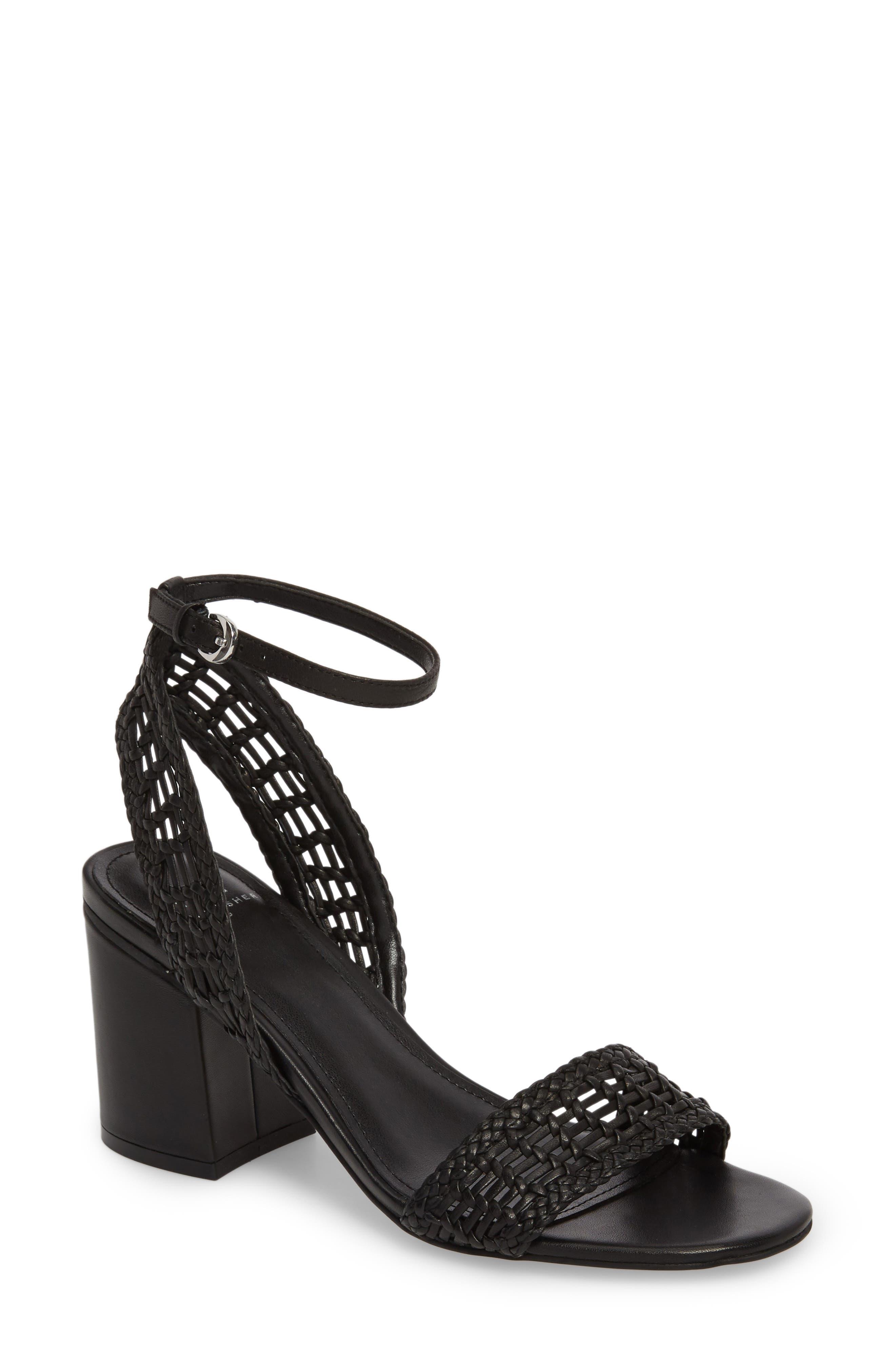 Amere Ankle Strap Sandal,                         Main,                         color, Black Leather