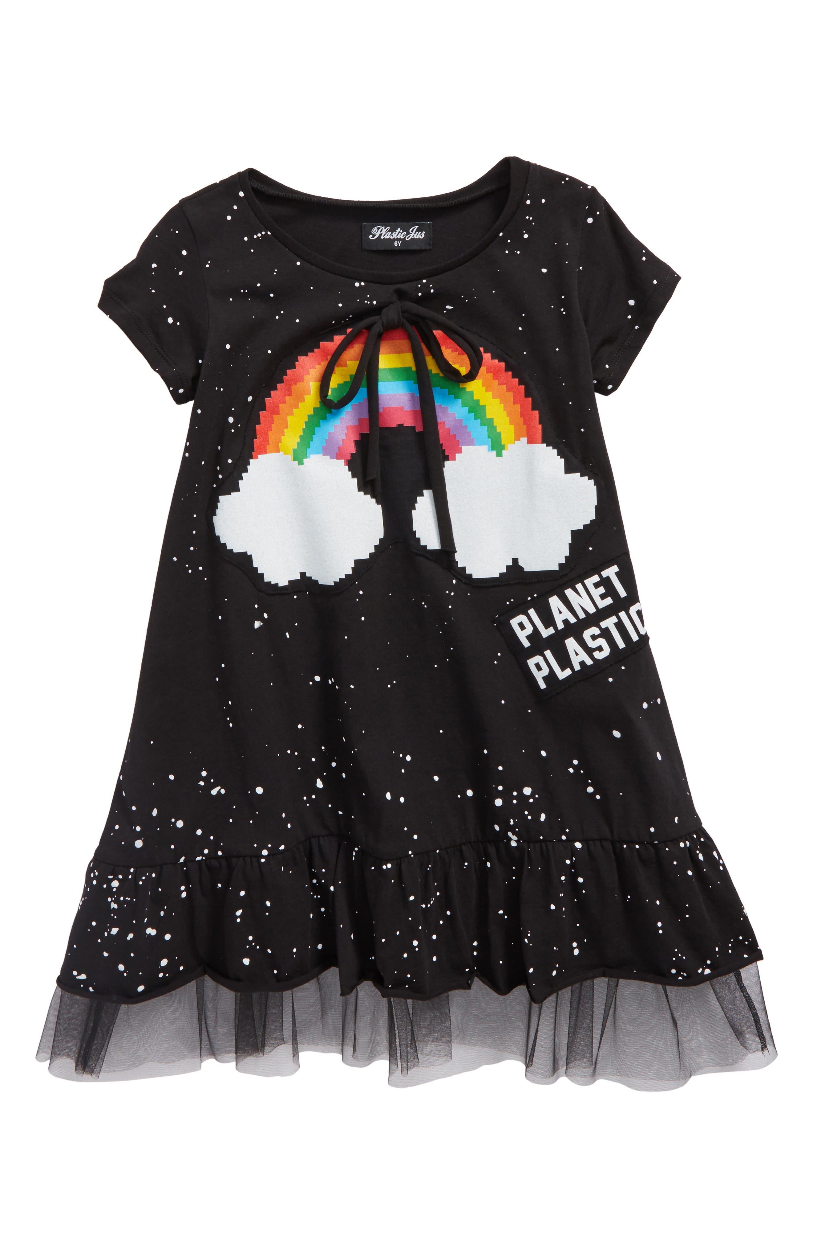 Rainbow Bow Dress,                             Main thumbnail 1, color,                             Rainbow