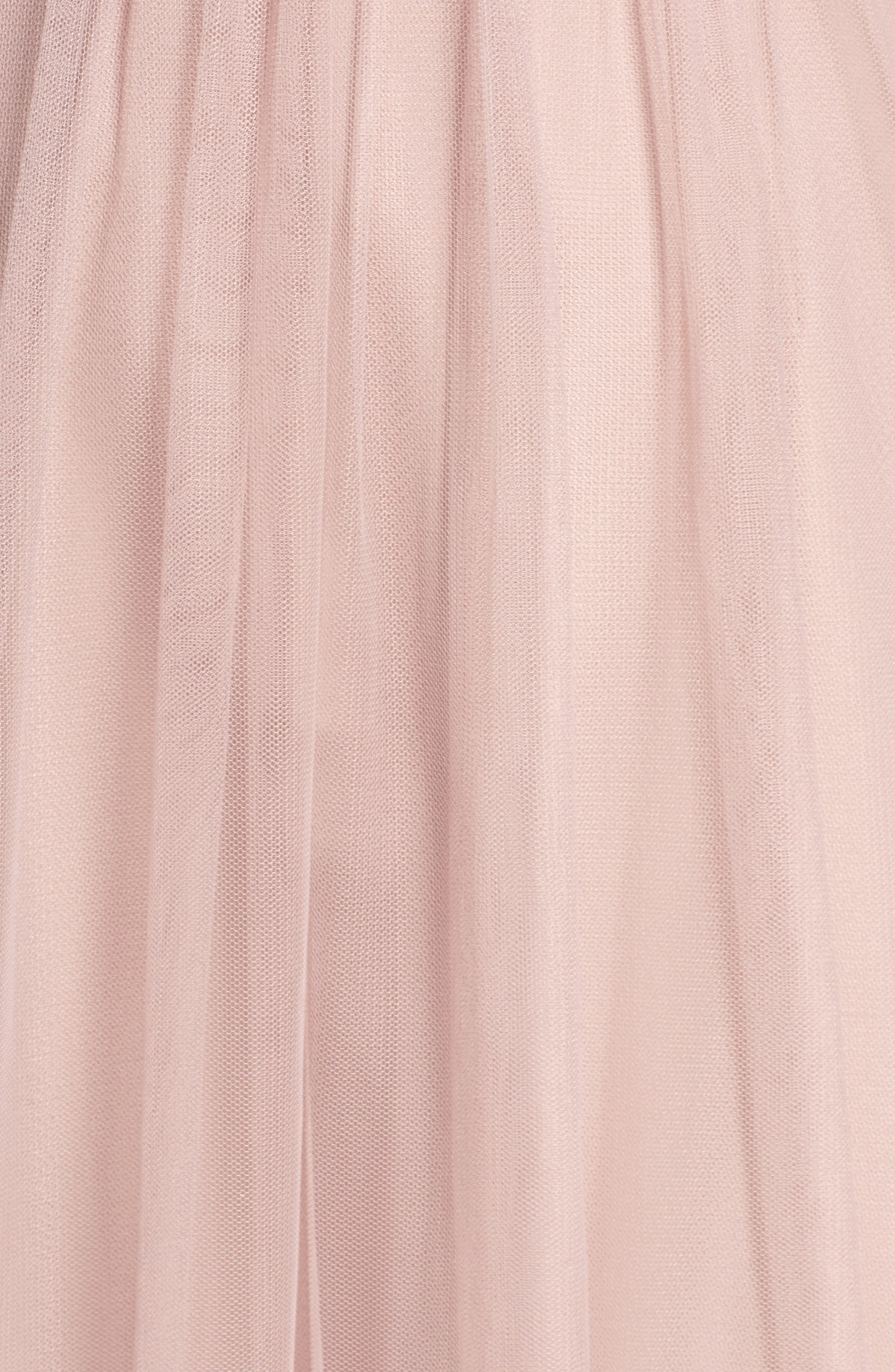 Strapless Tulle Gown,                             Alternate thumbnail 5, color,                             Latte