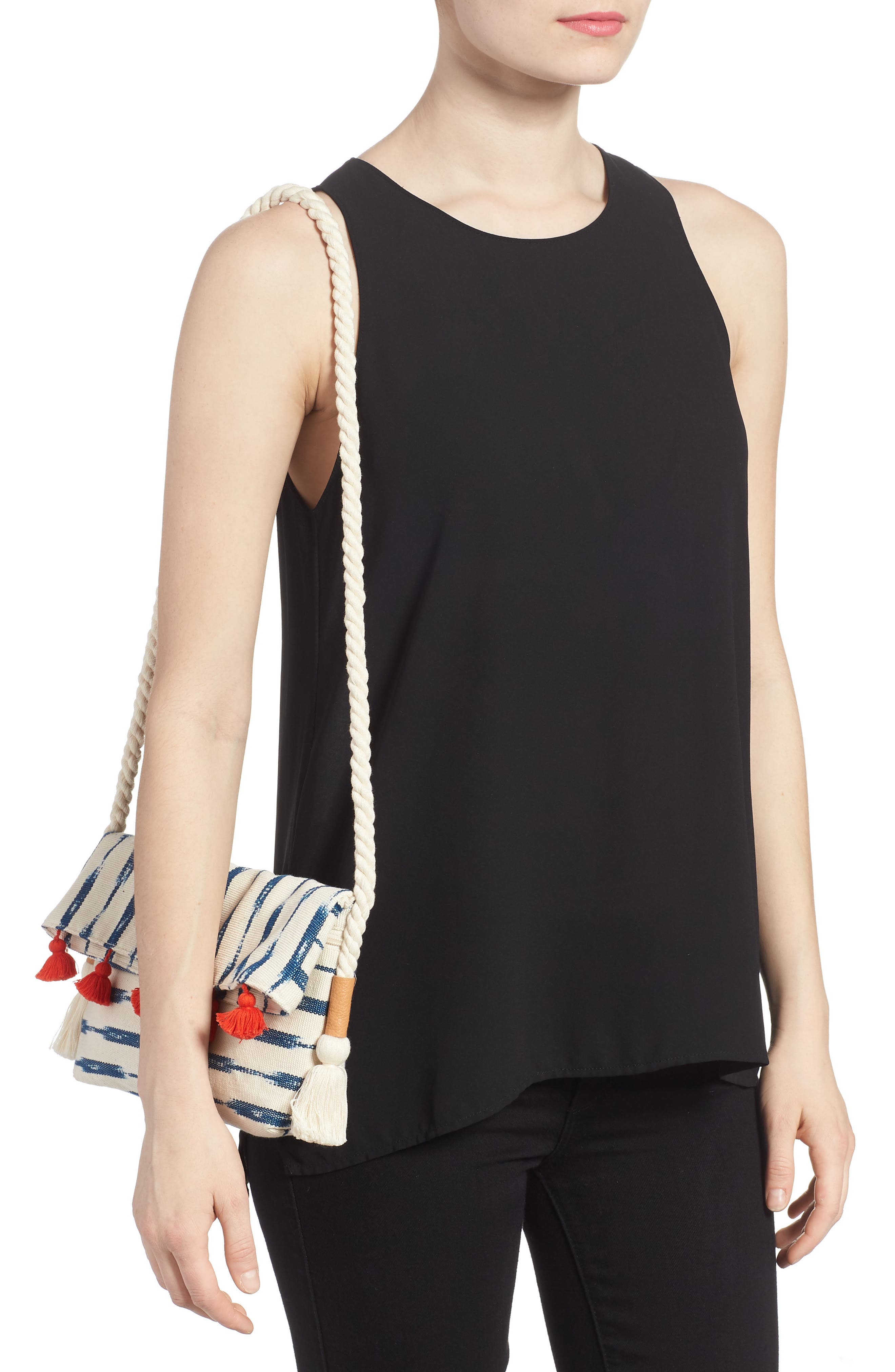 Sandrita Shoulder Bag,                             Alternate thumbnail 2, color,                             Indigo Jaspe