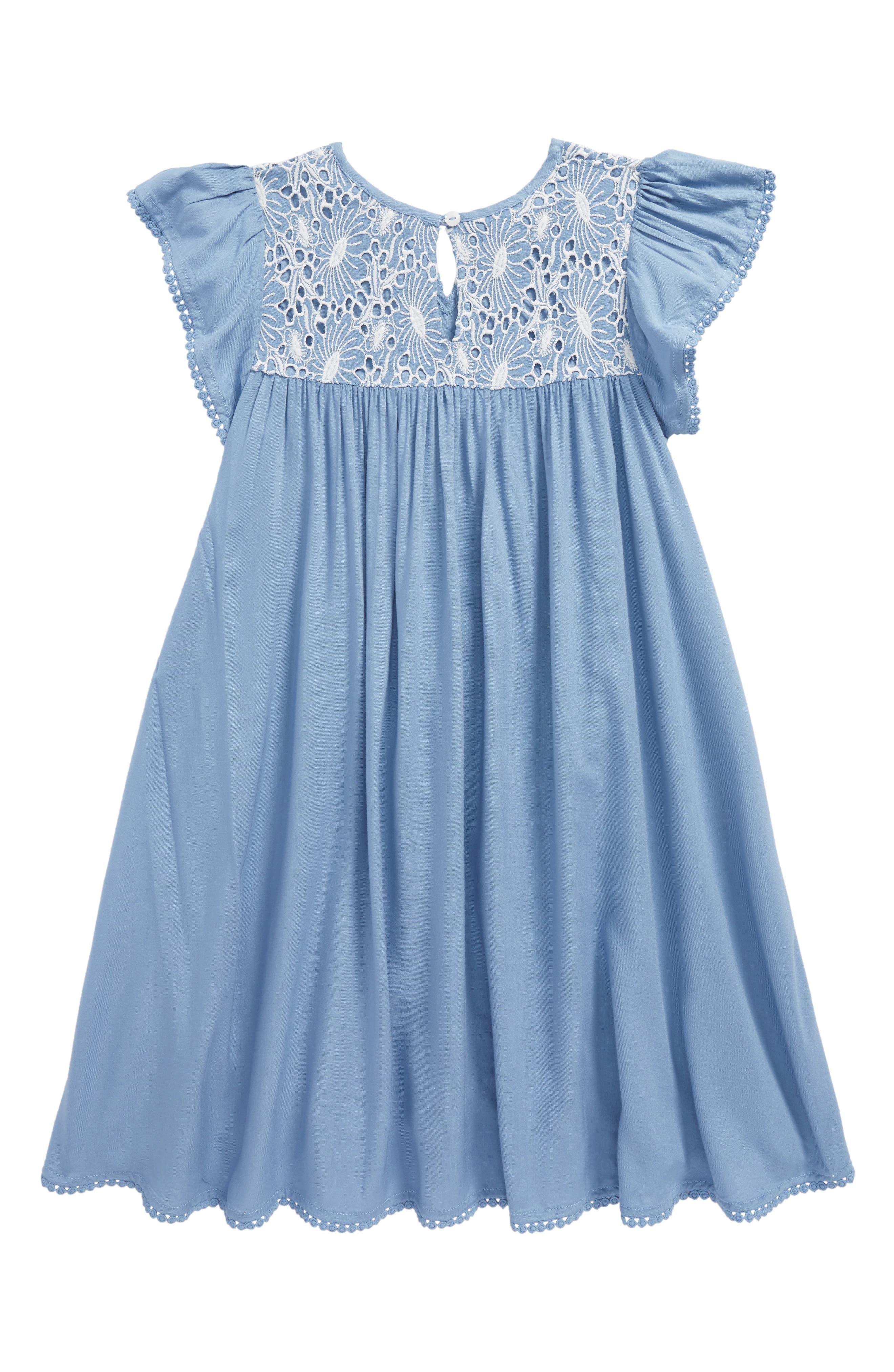 Embroidered Tassel Dress,                             Alternate thumbnail 2, color,                             Blue