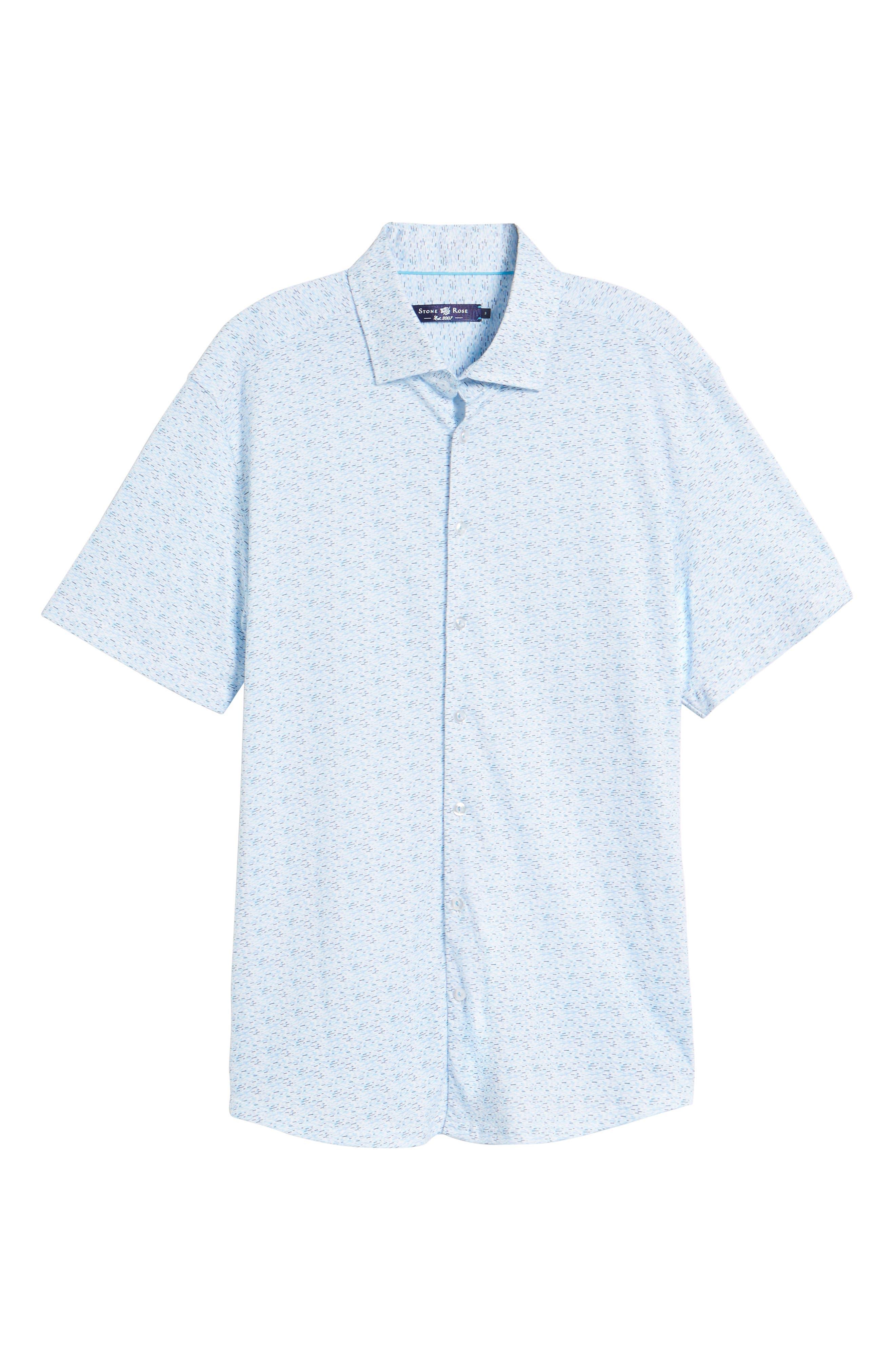Knit Sport Shirt,                             Alternate thumbnail 6, color,                             Blue