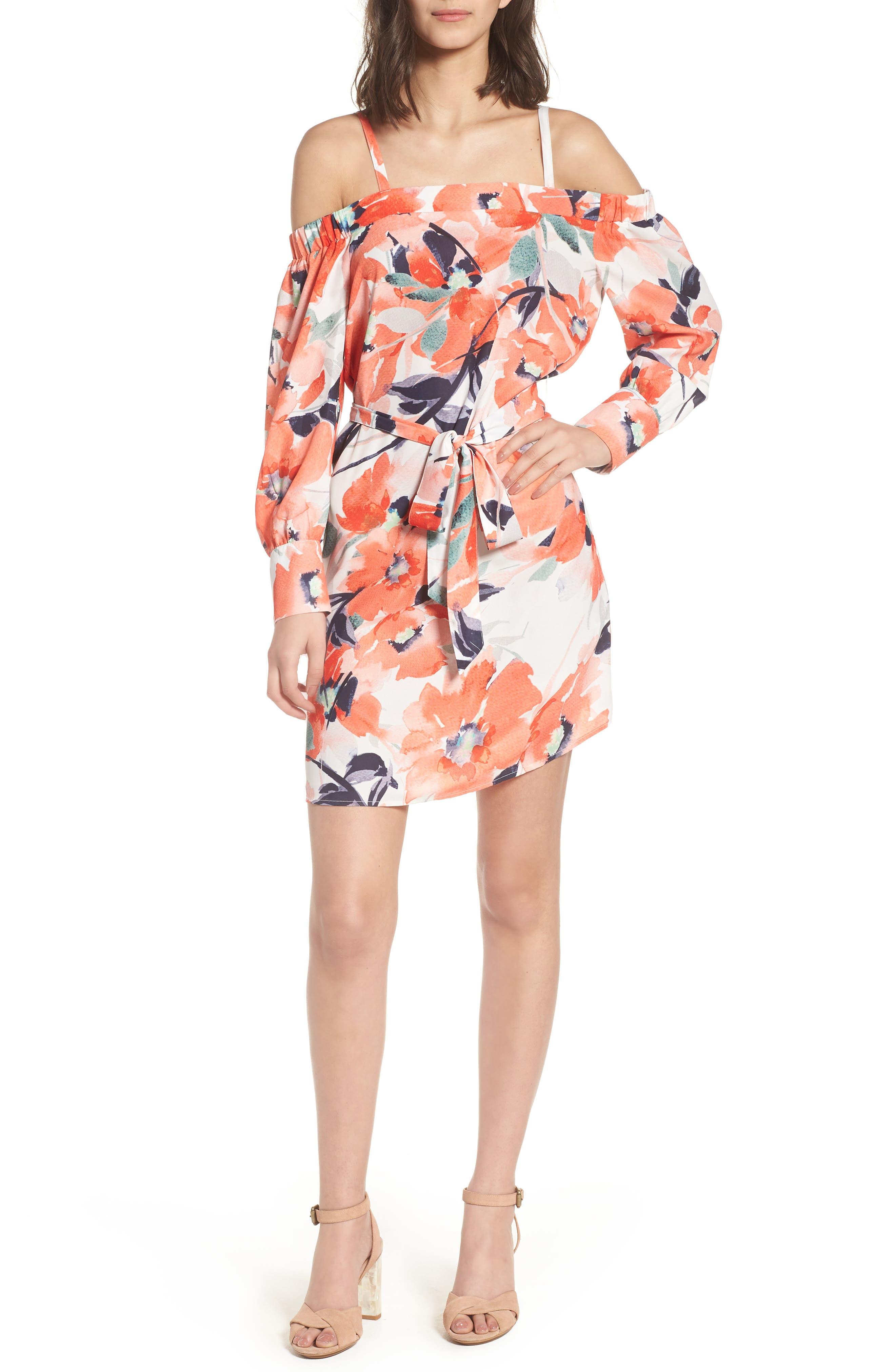 Bishop + Young Chrissy Cold Shoulder Dress,                         Main,                         color, Print