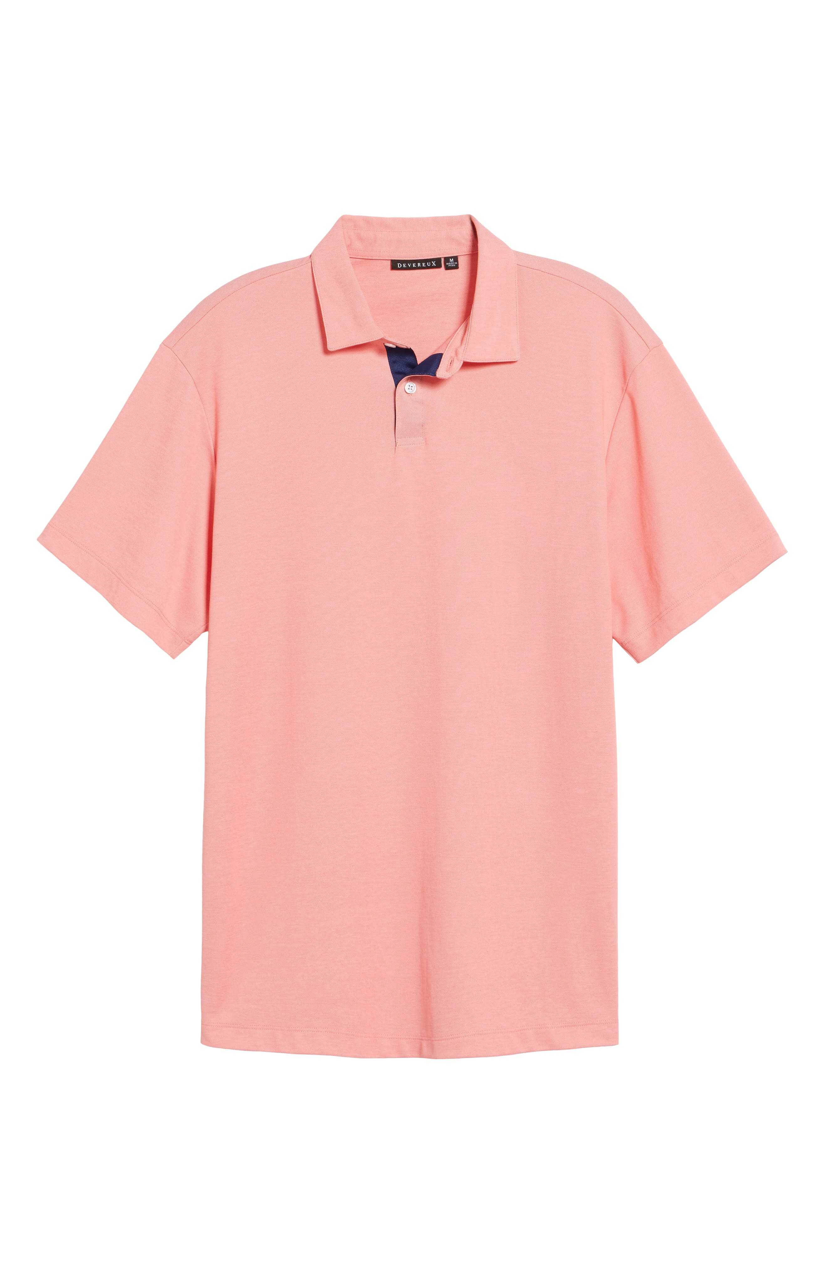 Andrew Regular Fit Piqué Polo,                             Alternate thumbnail 6, color,                             Coral
