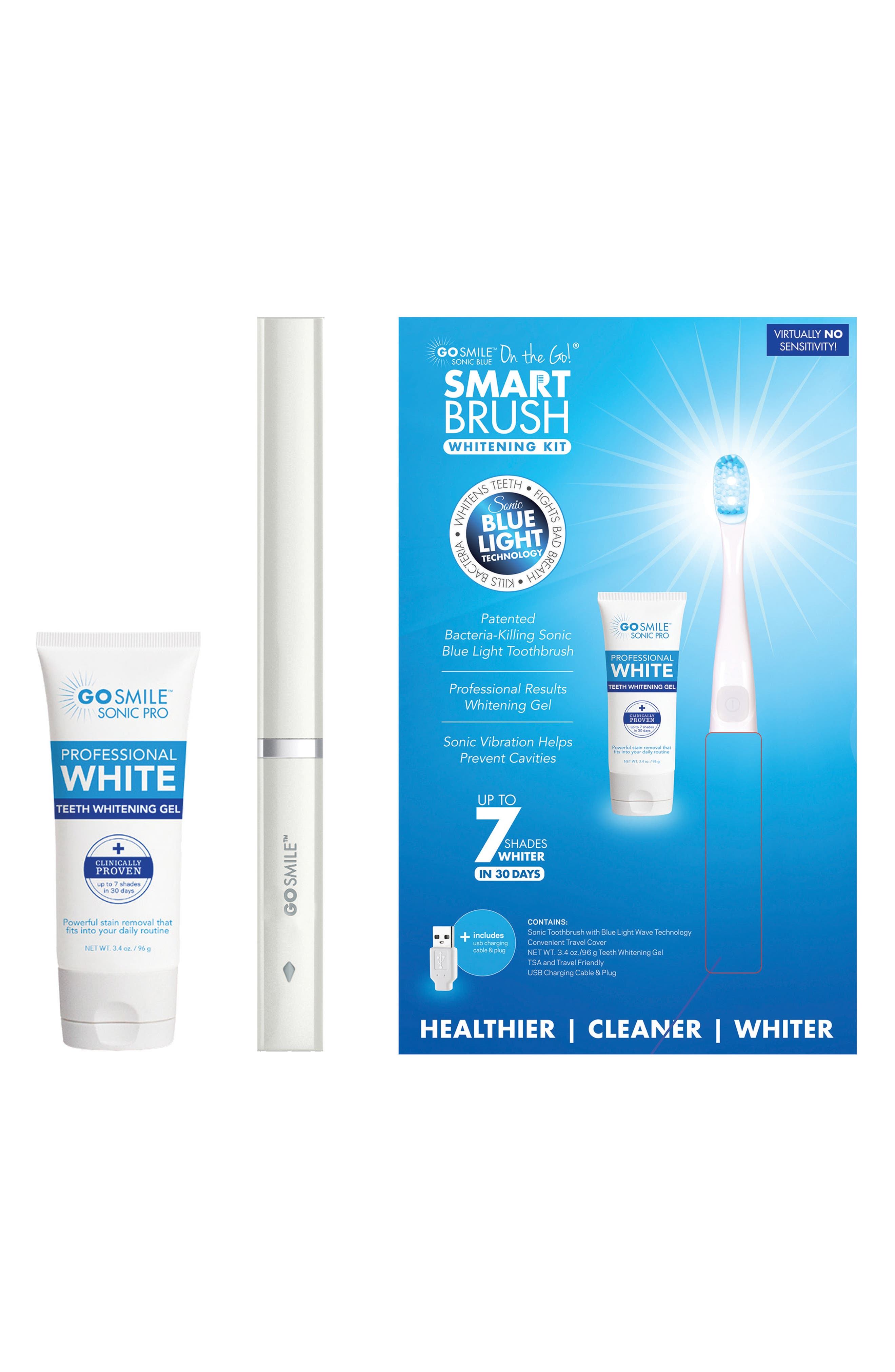 'Dental Pro On-the-Go - Sonic Blue' Teeth Whitening System,                             Main thumbnail 1, color,                             White