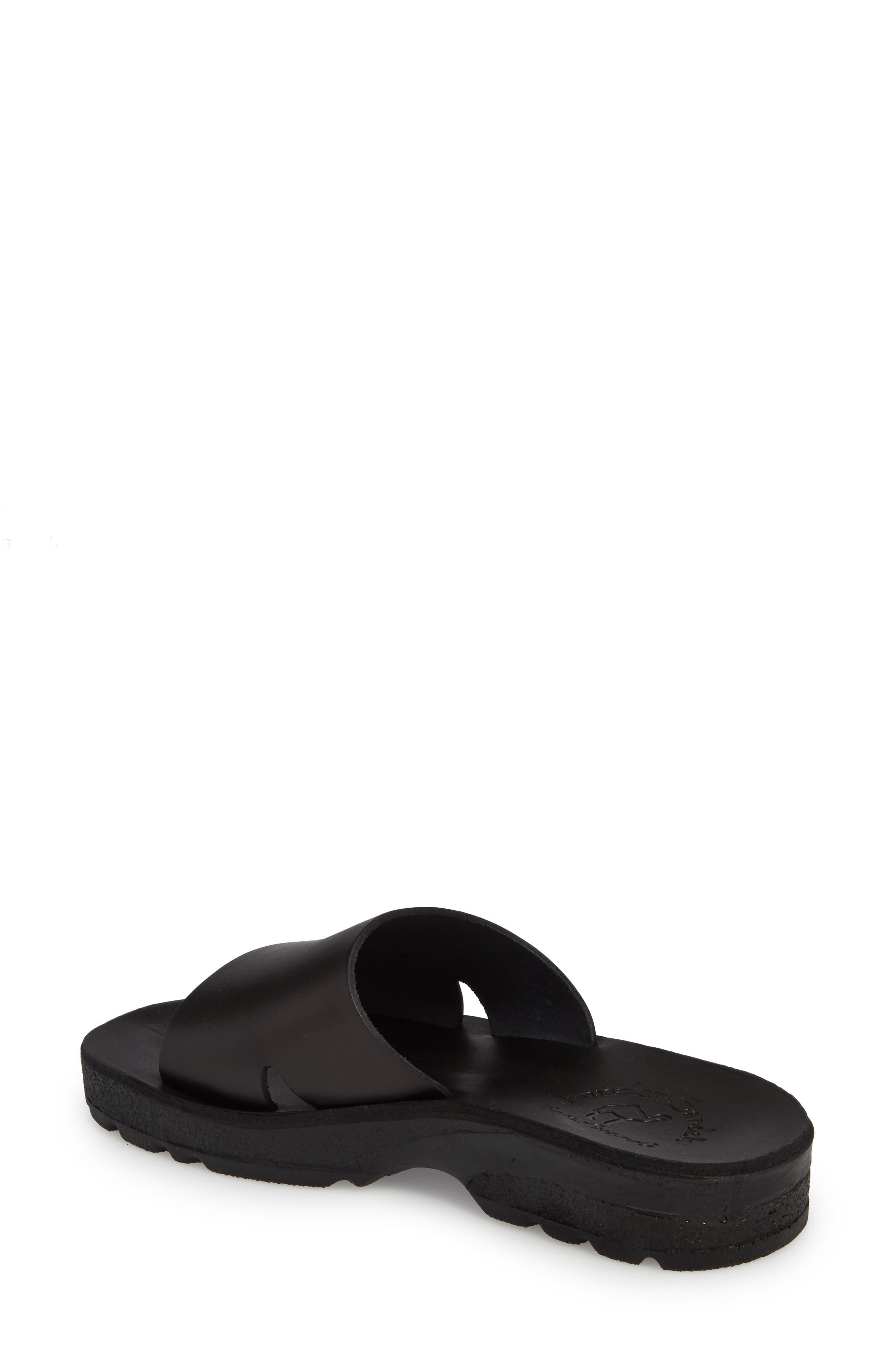 Bashn Molded Footbed Slide Sandal,                             Alternate thumbnail 2, color,                             Black Leather