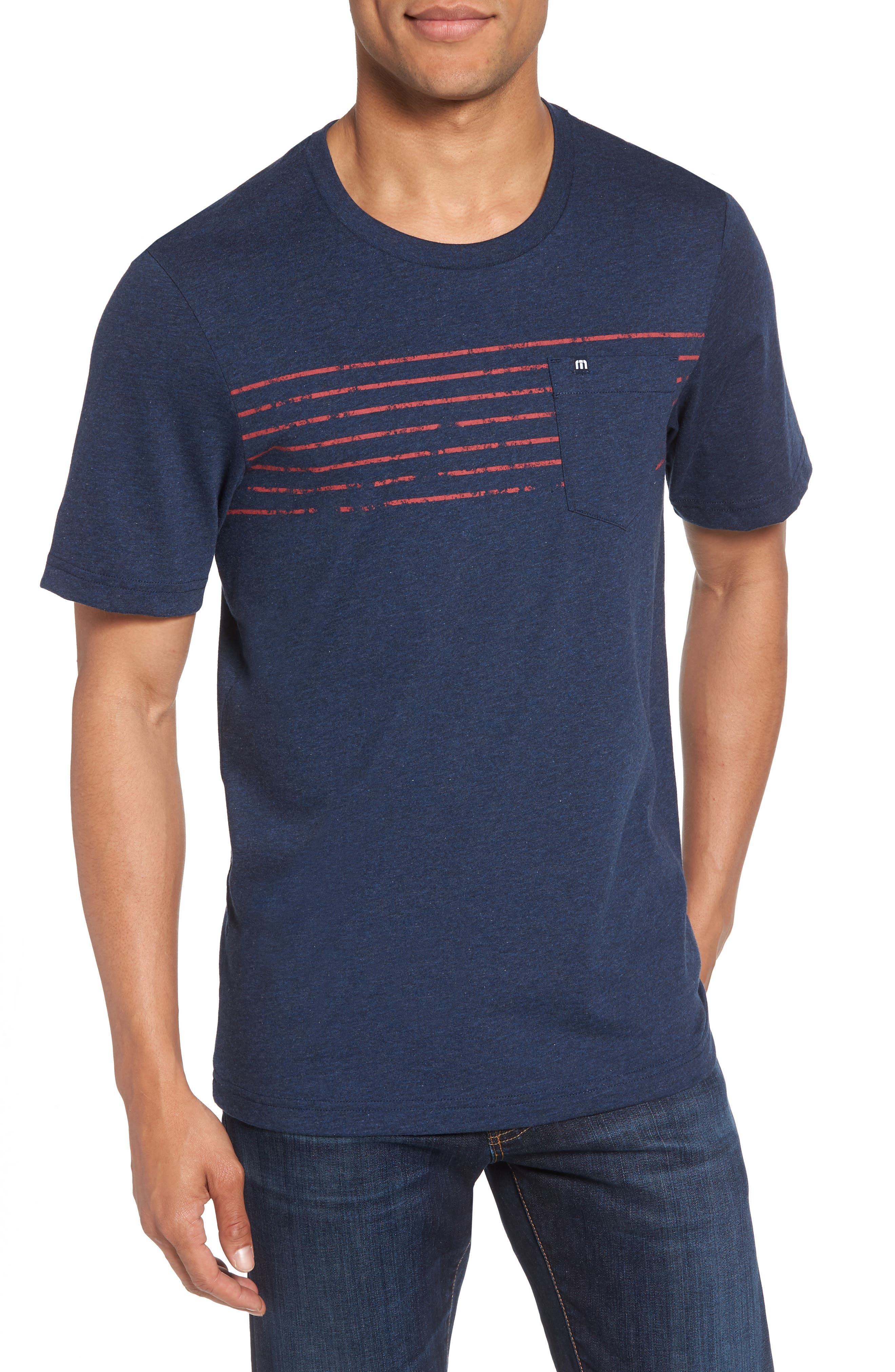 Bogue Pocket T-Shirt,                         Main,                         color, Heather Blue Nights