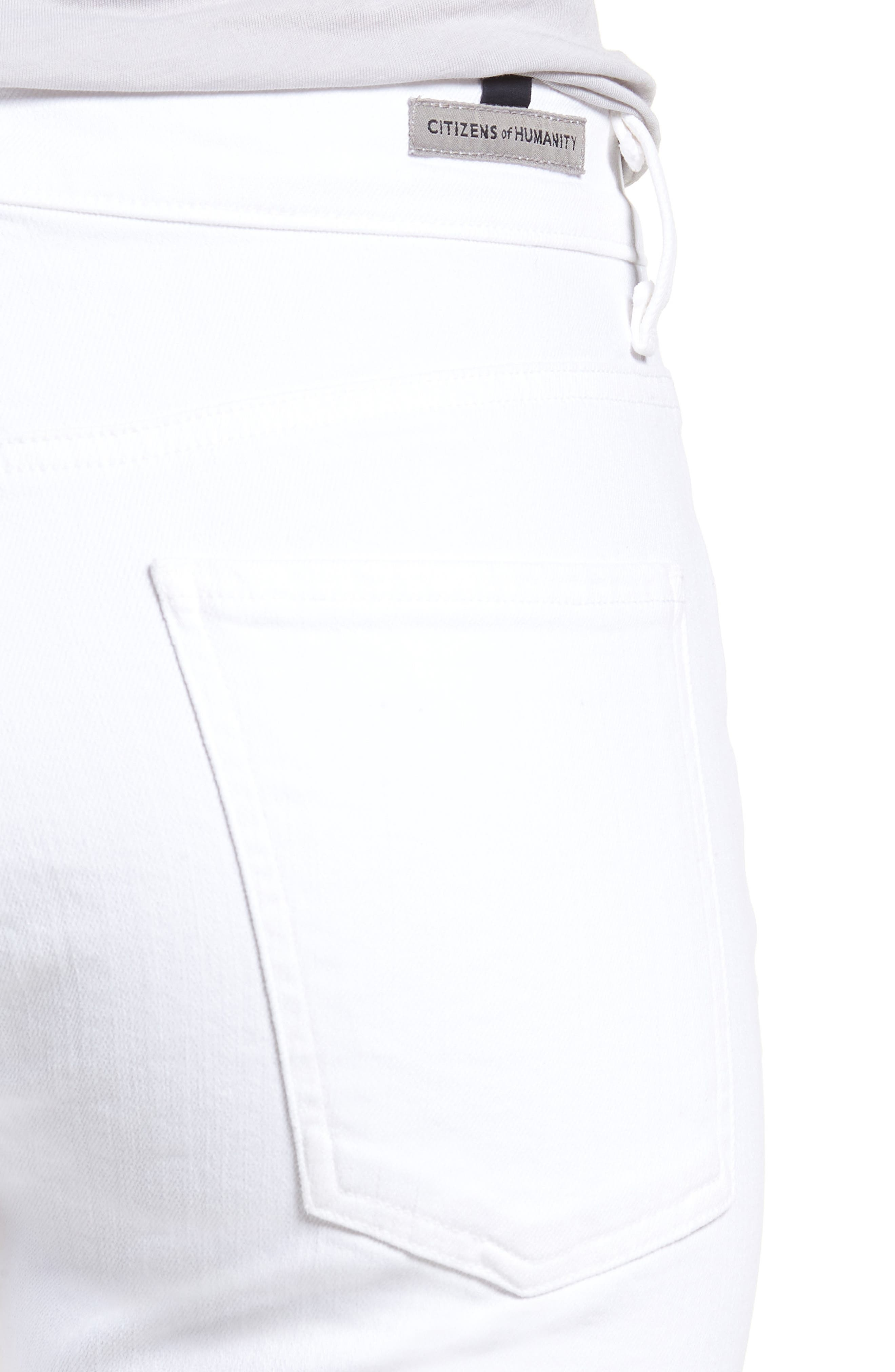 Fleetwood Flare Jeans,                             Alternate thumbnail 4, color,                             Optic White