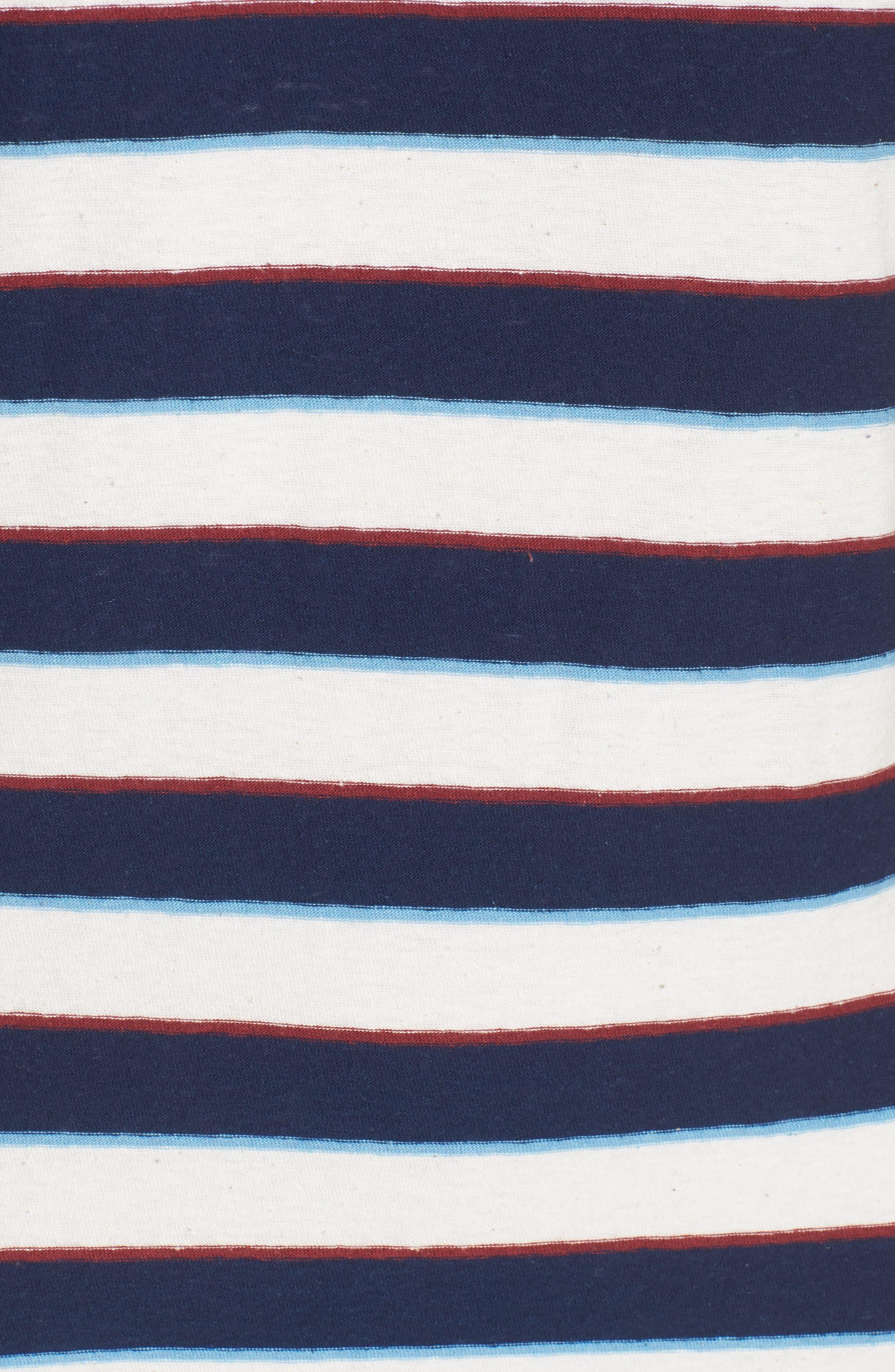 Vintage Stripe T-Shirt Dress,                             Alternate thumbnail 5, color,                             Navy Stripe