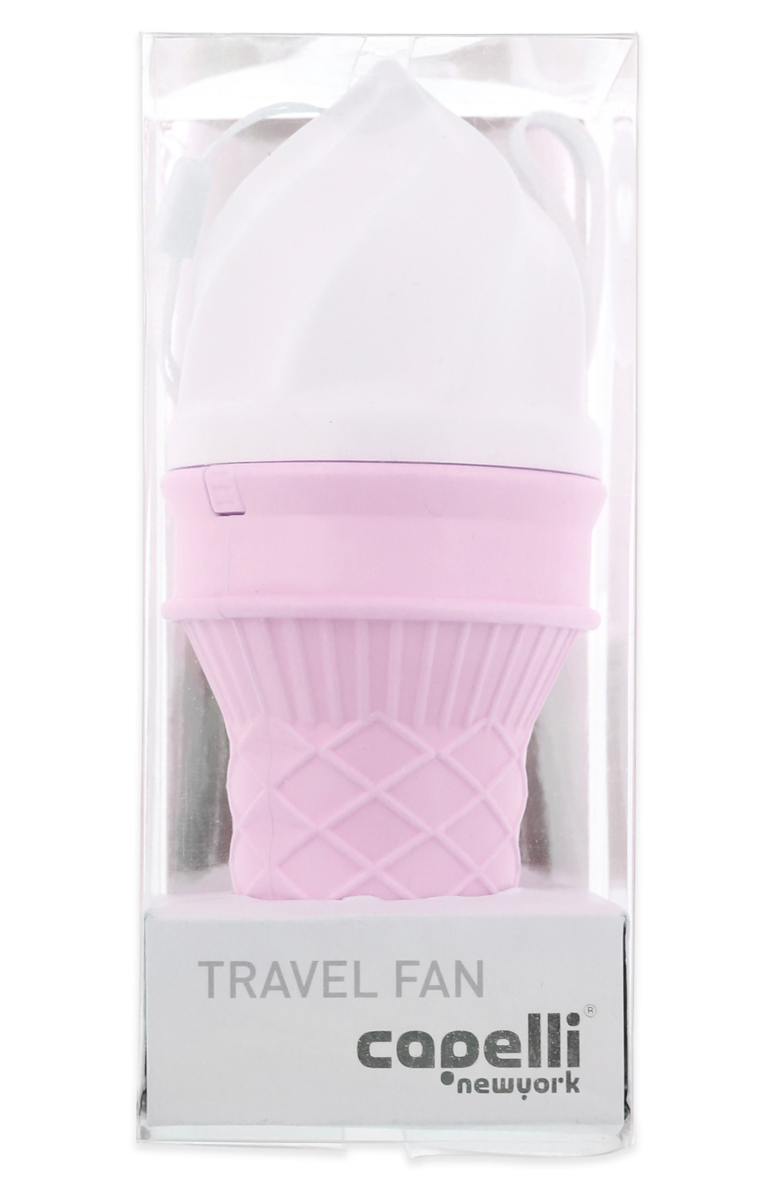 Ice Cream Cone Mini Fan,                             Alternate thumbnail 3, color,                             Pink Combo