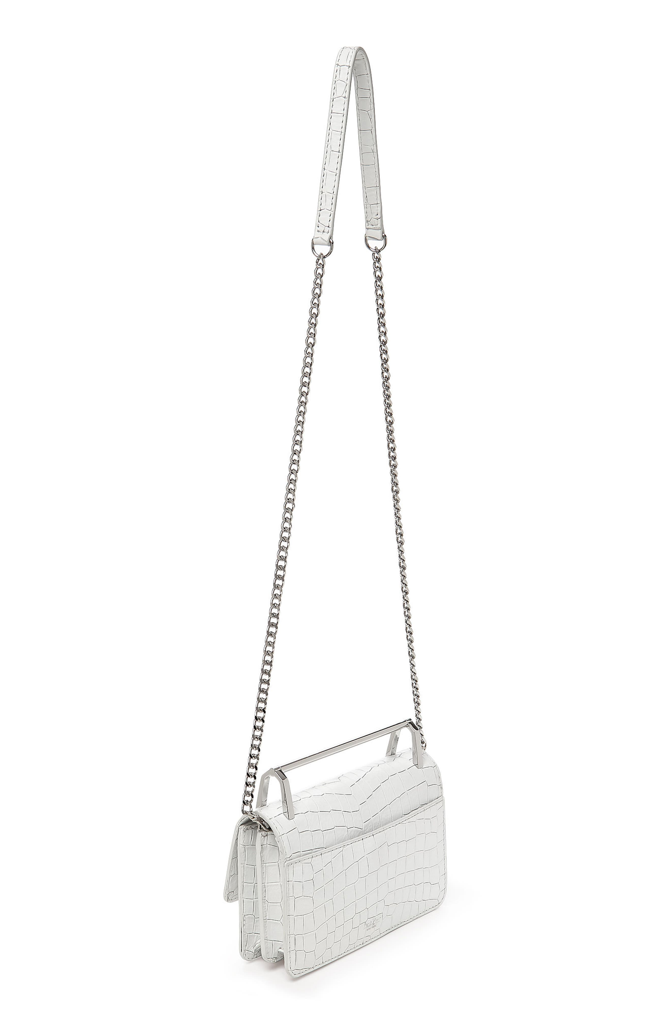 Lennox Leather Crossbody Bag,                             Alternate thumbnail 2, color,                             Chalk Croco