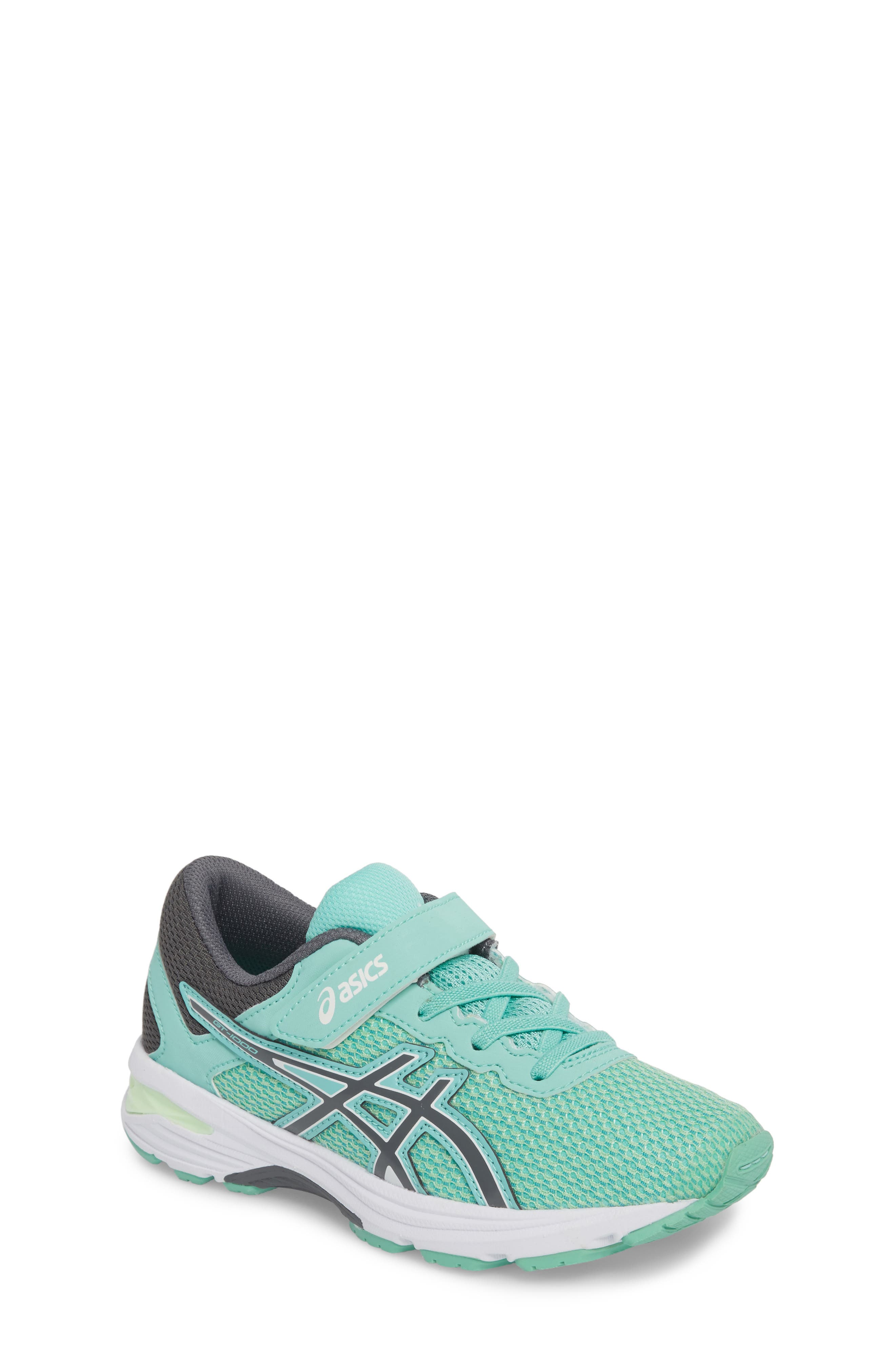 Asics GT-1000<sup>™</sup> 6 PS Sneaker,                             Main thumbnail 1, color,                             Carbon/ Opal Green