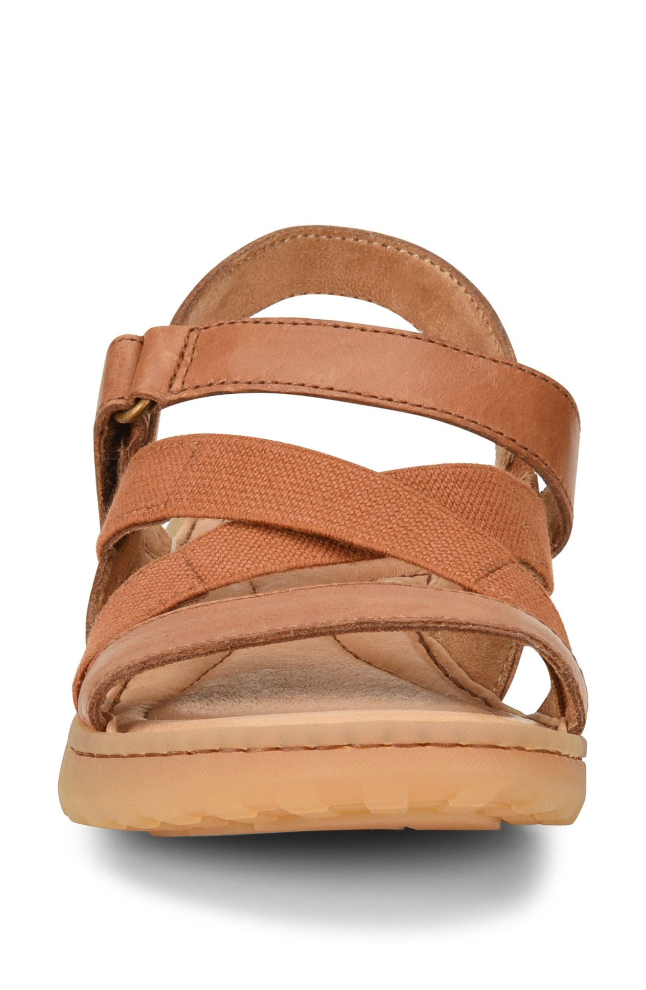 Manta Sandal,                             Alternate thumbnail 4, color,                             Brown Leather