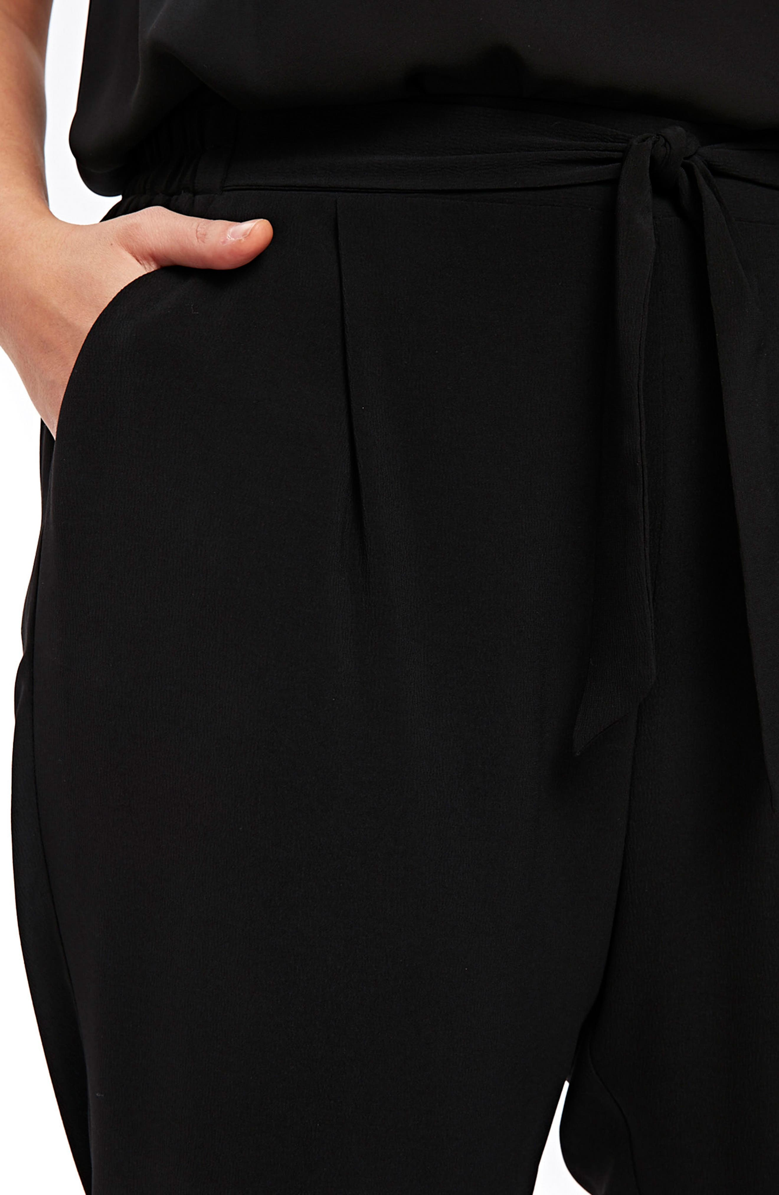 Ripple Tapered Pants,                             Alternate thumbnail 3, color,                             Black