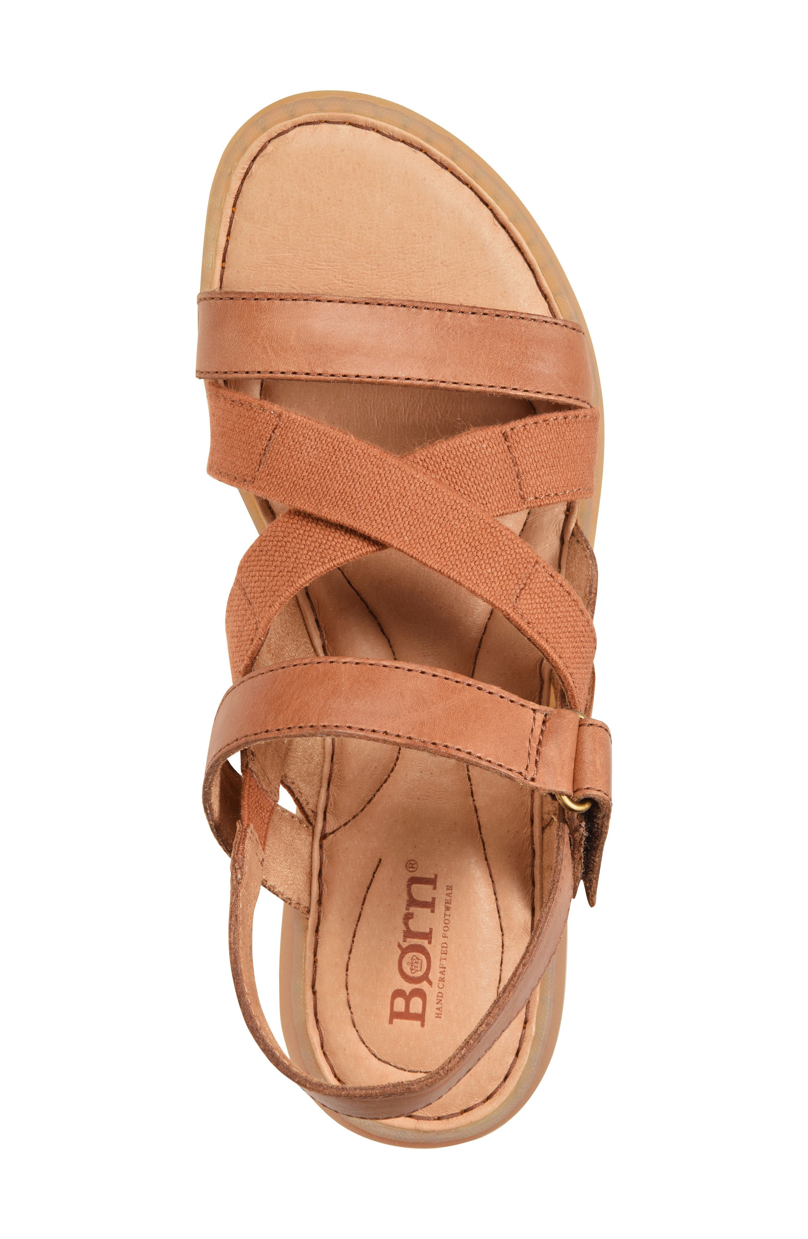 Manta Sandal,                             Alternate thumbnail 5, color,                             Brown Leather