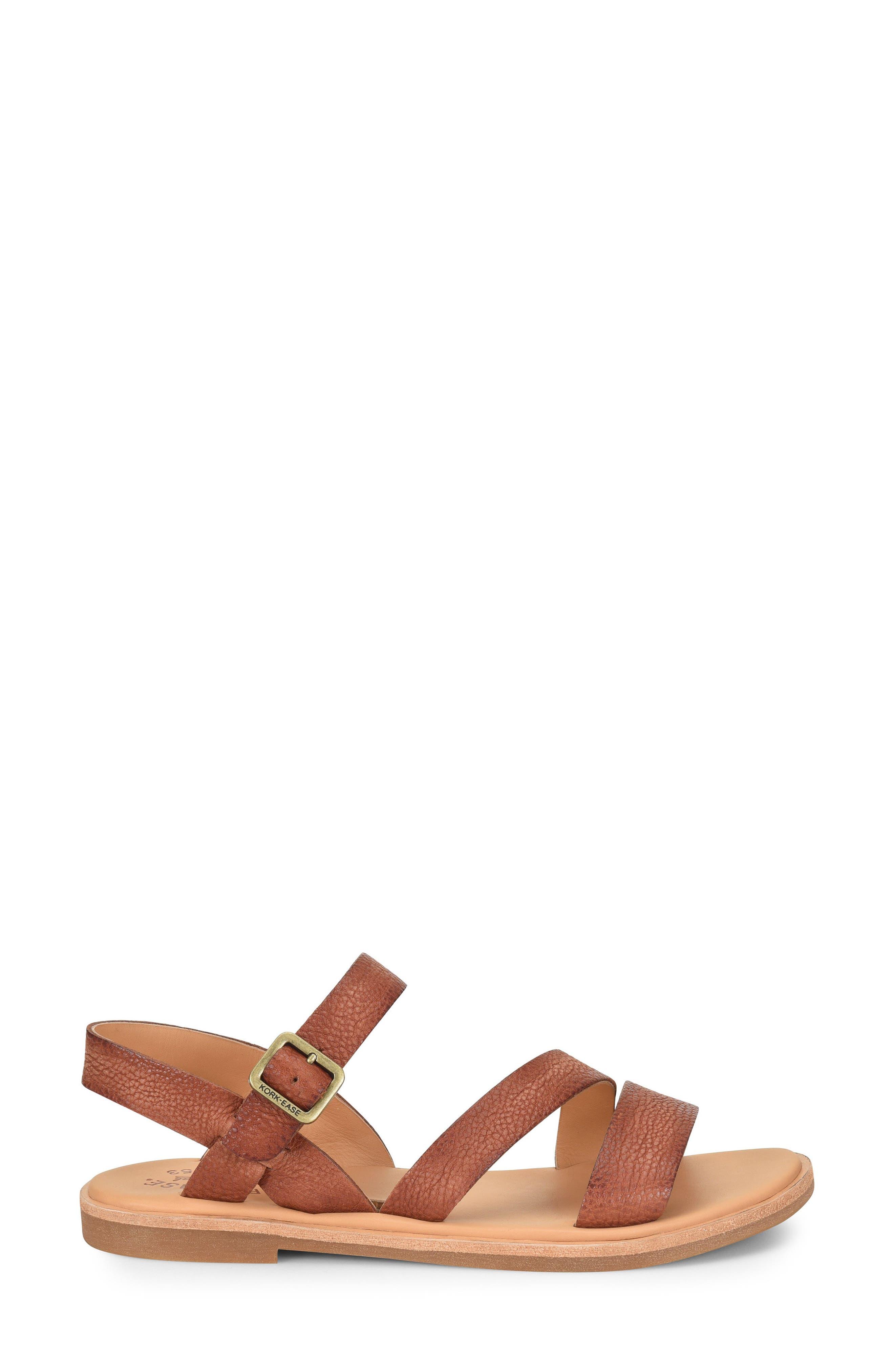 Nogales Sandal,                             Alternate thumbnail 3, color,                             Brown Leather