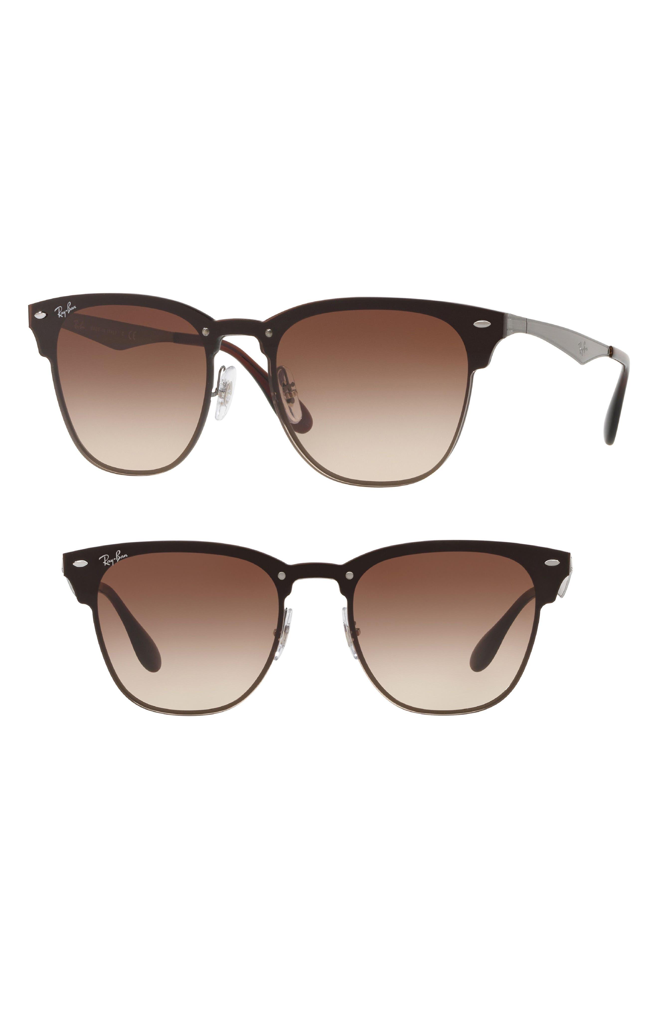 Blaze Clubmaster 47mm Sunglasses,                             Main thumbnail 1, color,                             Gunmetal