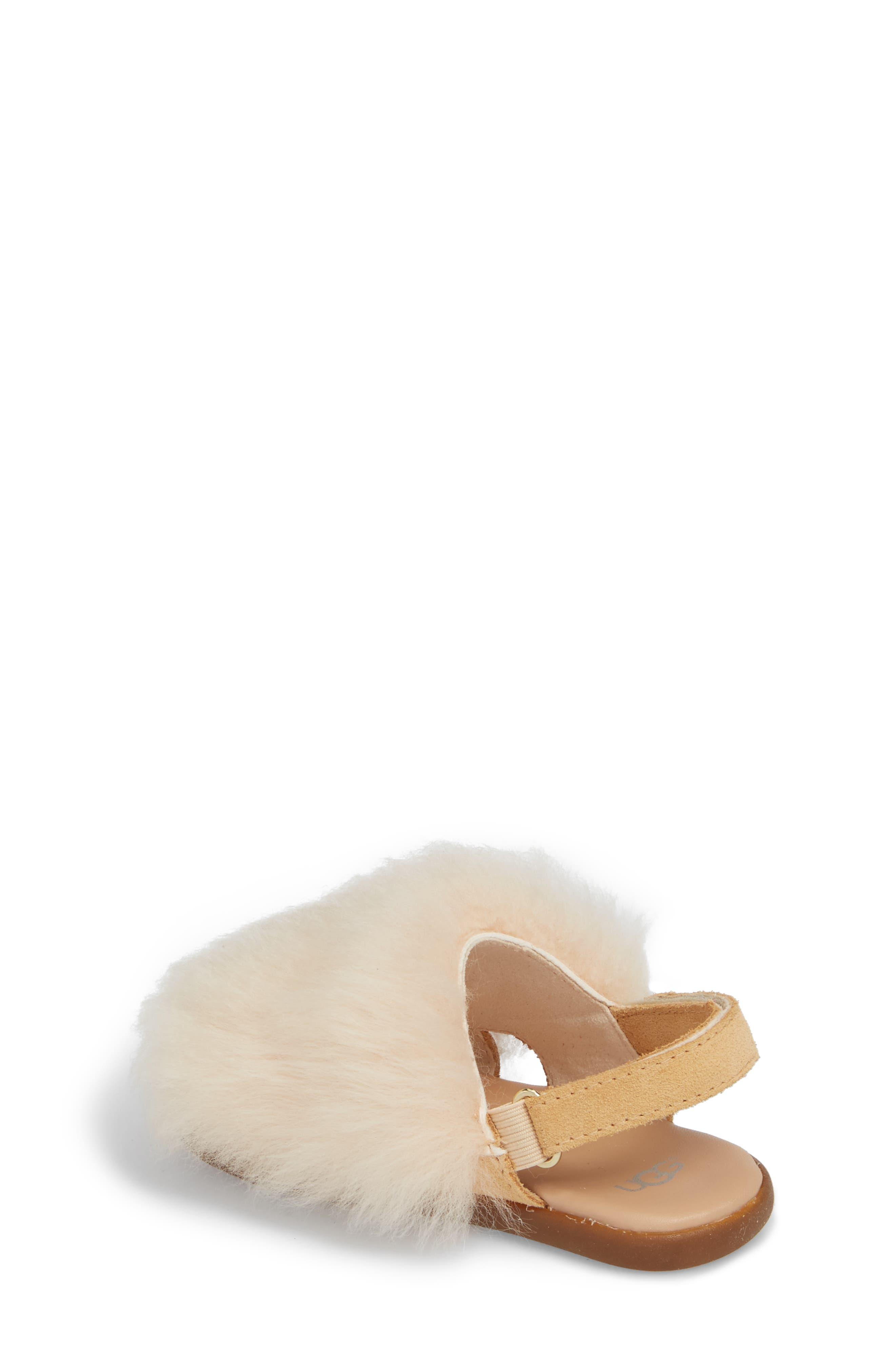 Holly Genuine Shearling Sandal,                             Alternate thumbnail 2, color,                             Soft Ochre