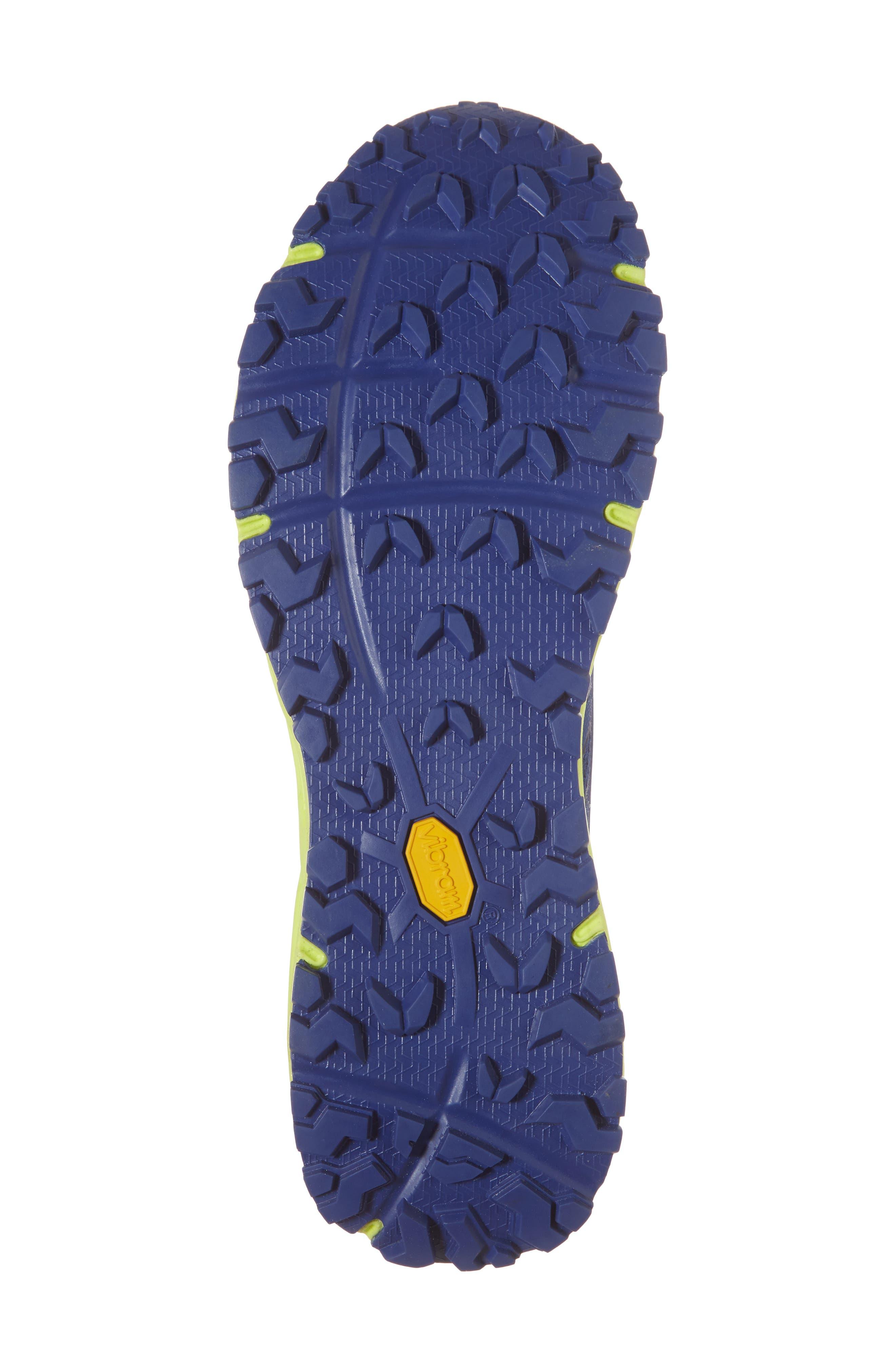 Ultra Endurance II Trail Running Shoe,                             Alternate thumbnail 6, color,                             Brit Blue/ Dayglo Yellow