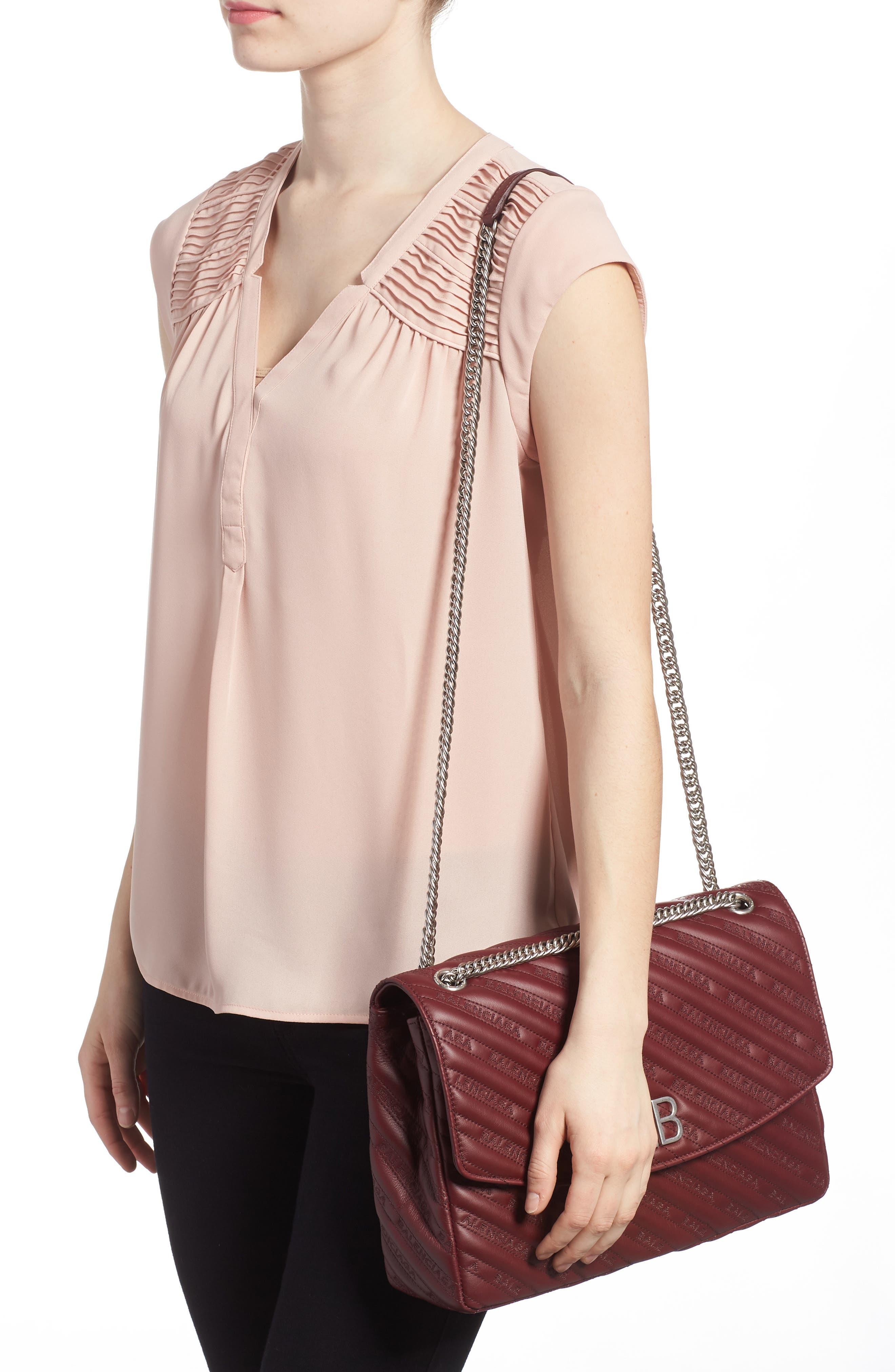 Alternate Image 2  - Balenciaga Matelassé Calfskin Leather Shoulder Bag