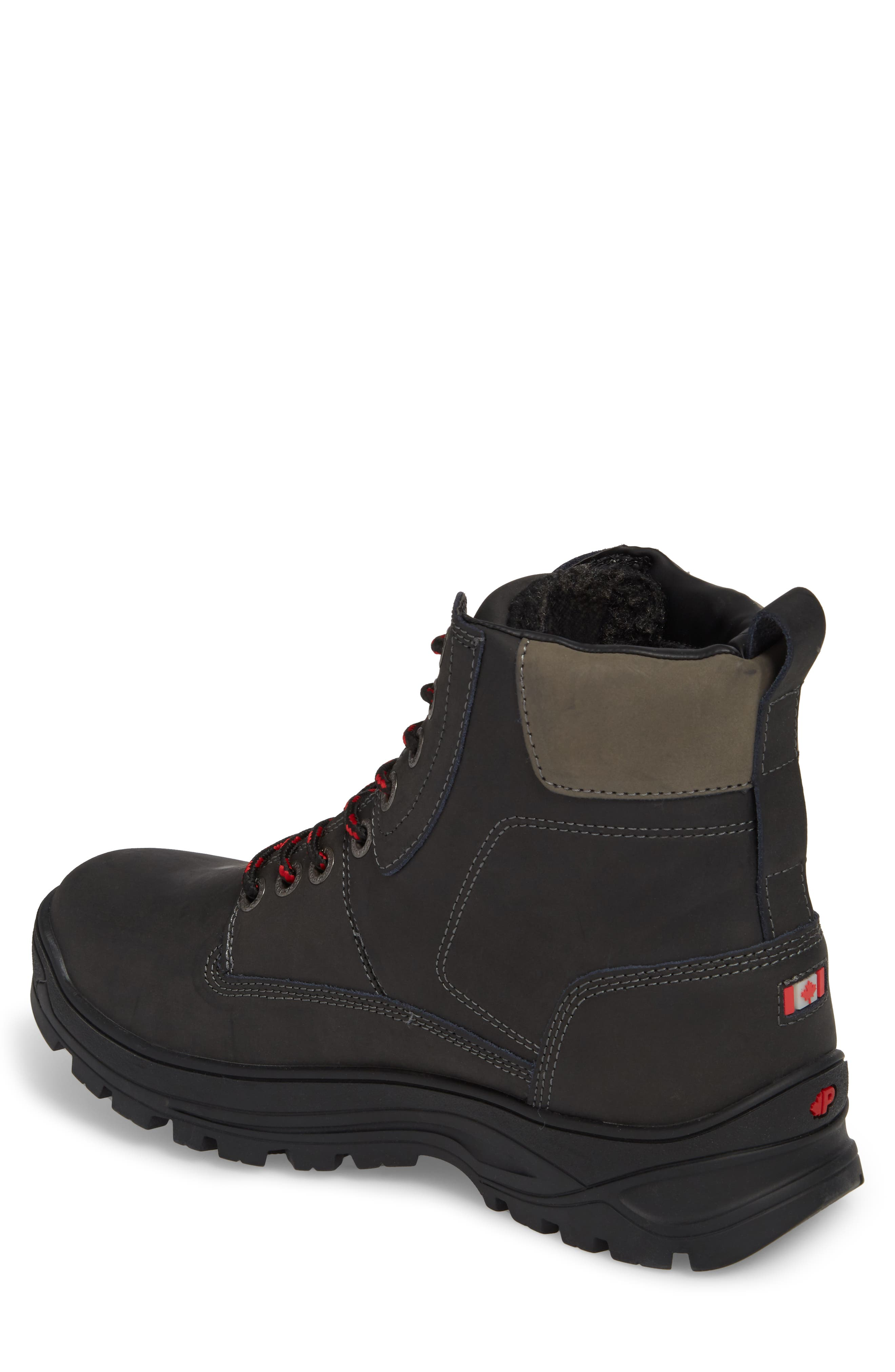 Imani Waterproof Insulated Boot,                             Alternate thumbnail 2, color,                             Black Leather