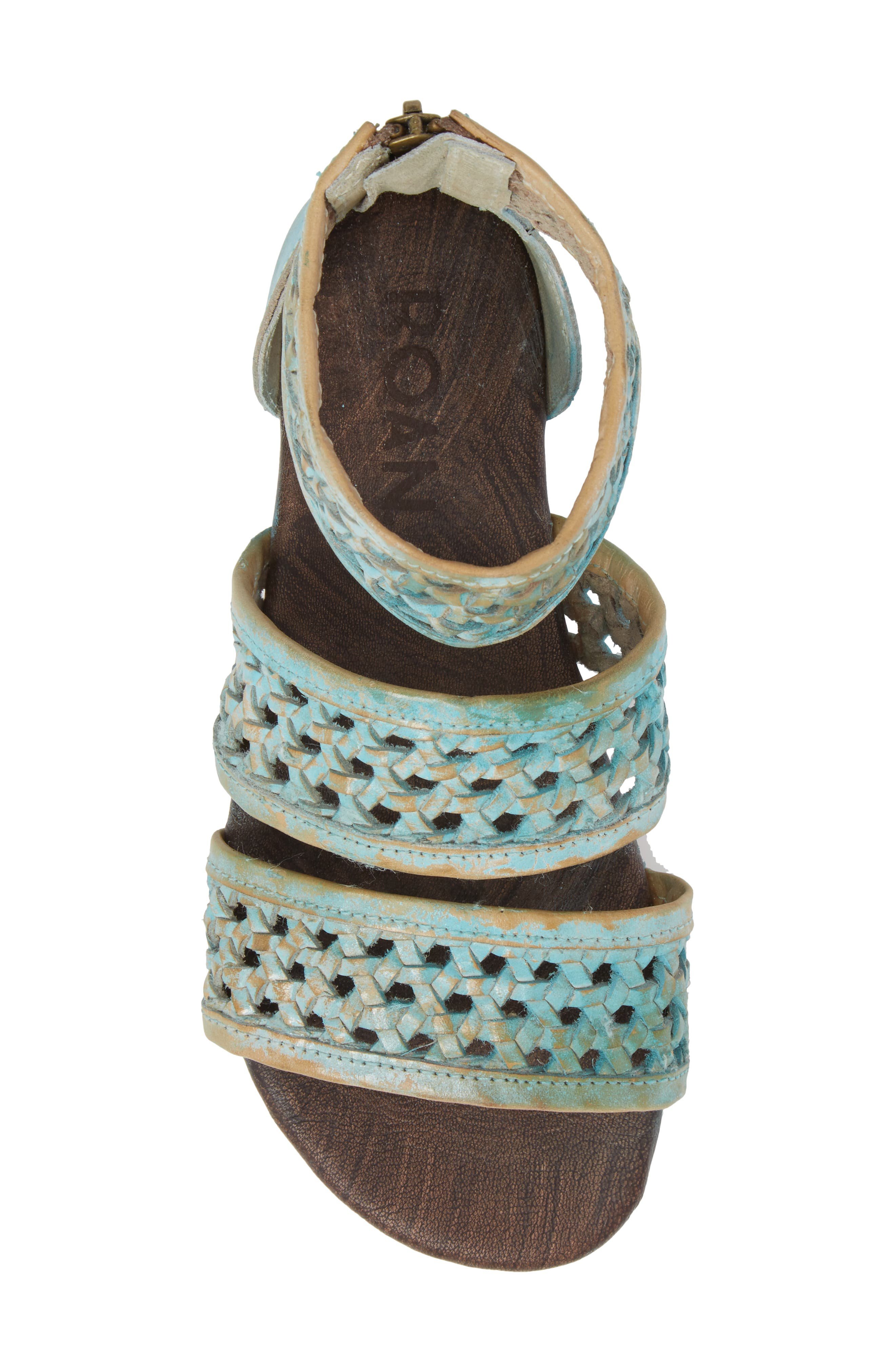 Clio Woven Ankle Cuff Sandal,                             Alternate thumbnail 5, color,                             Blue