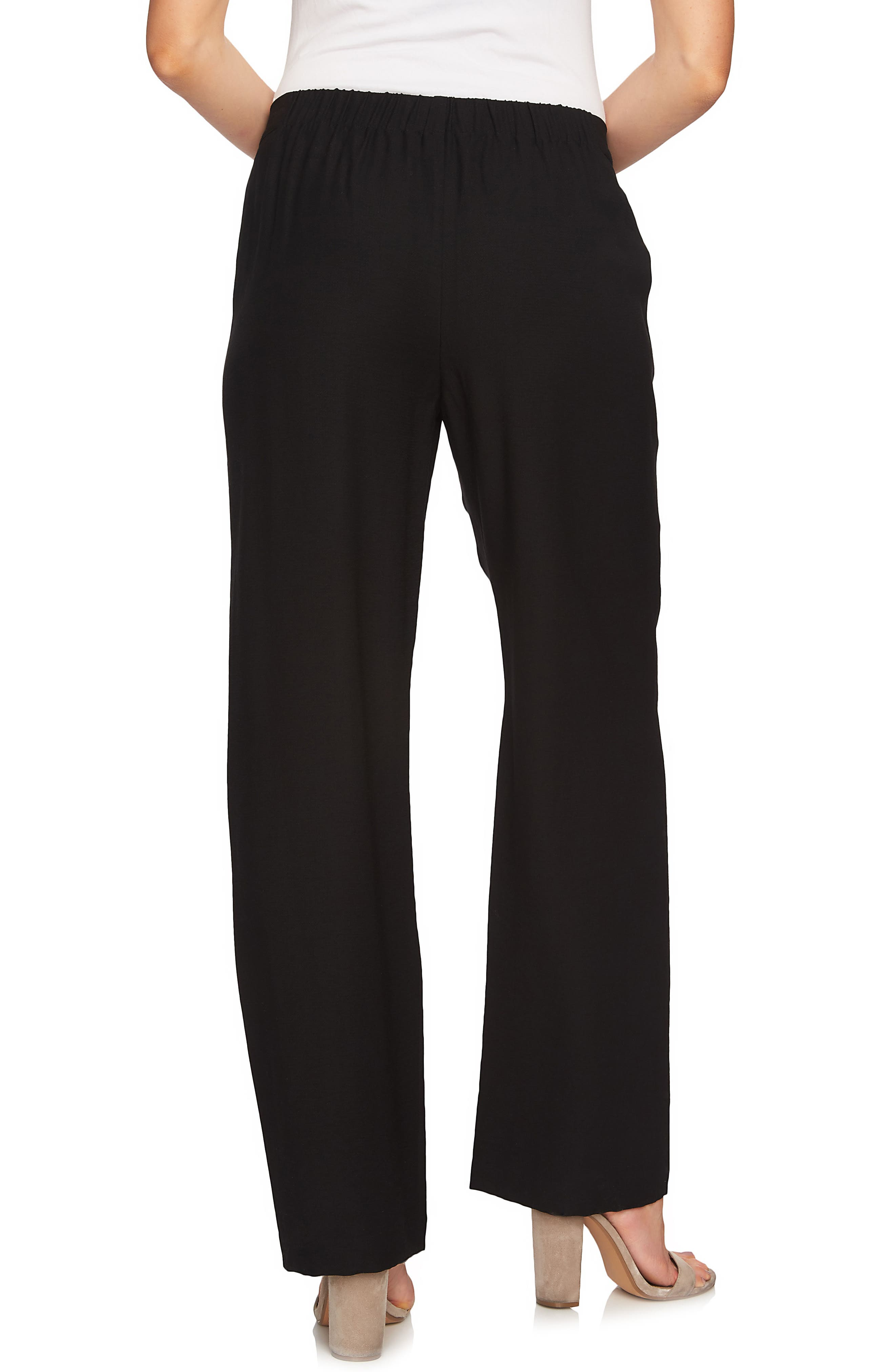 Wide Leg Soft Pants,                             Alternate thumbnail 2, color,                             Rich Black