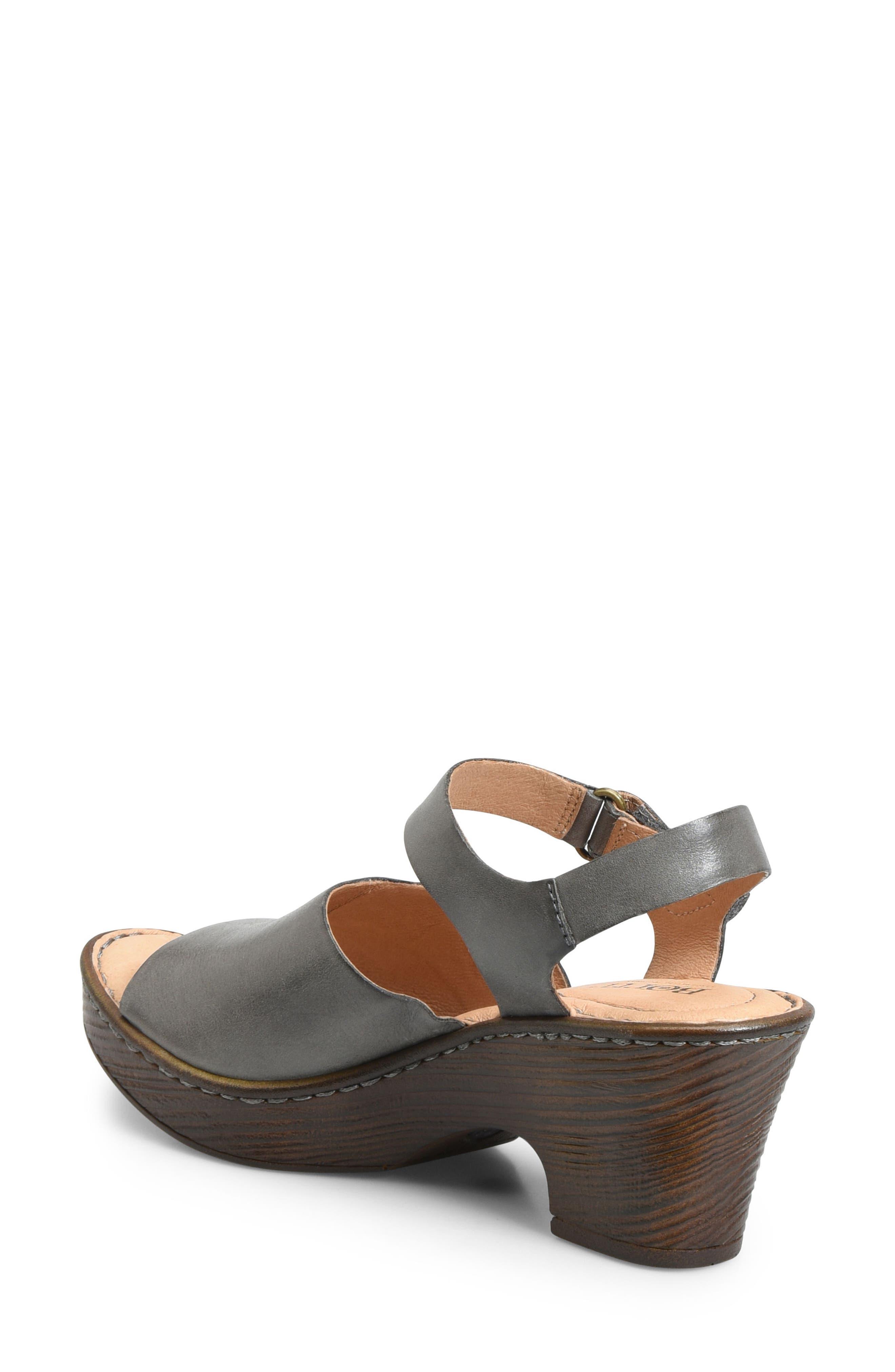 Canna Platform Sandal,                             Alternate thumbnail 2, color,                             Grey Leather