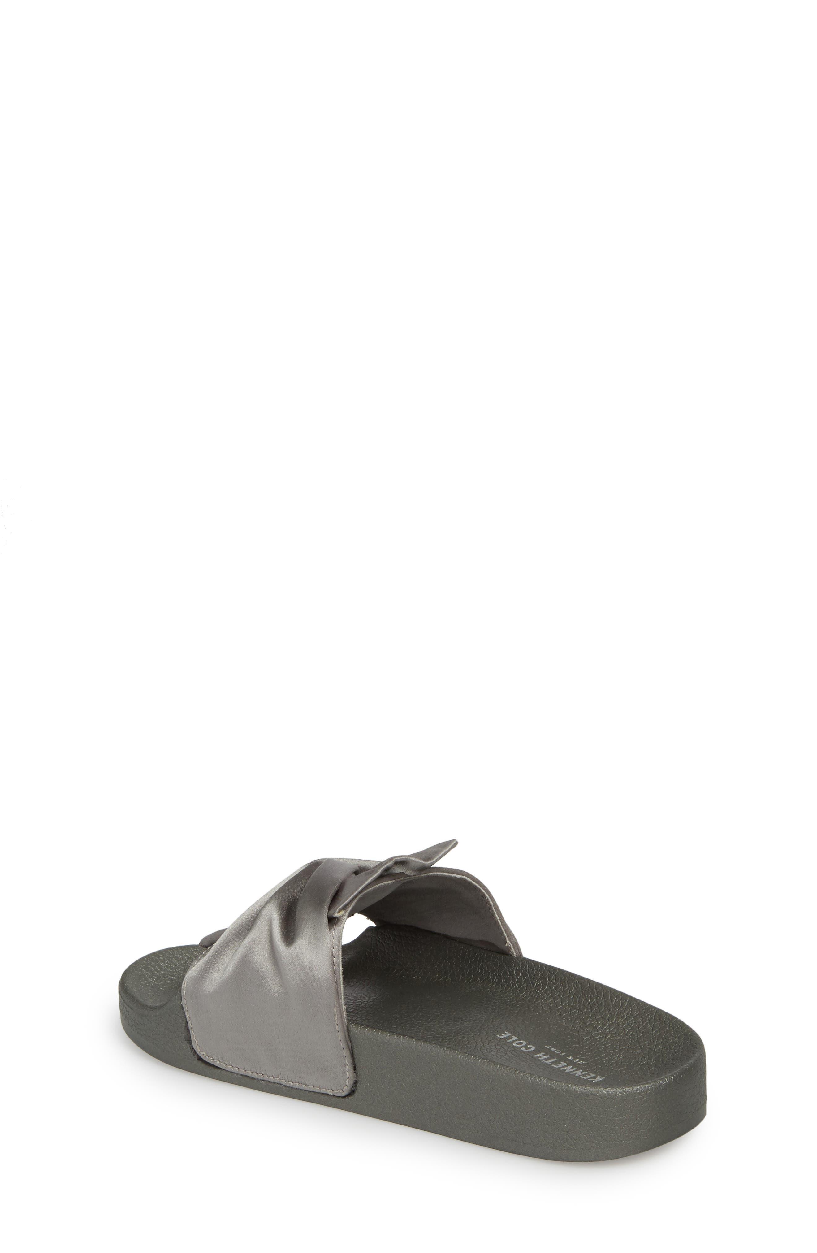 Shower Twist Slide Sandal,                             Alternate thumbnail 2, color,                             Gray