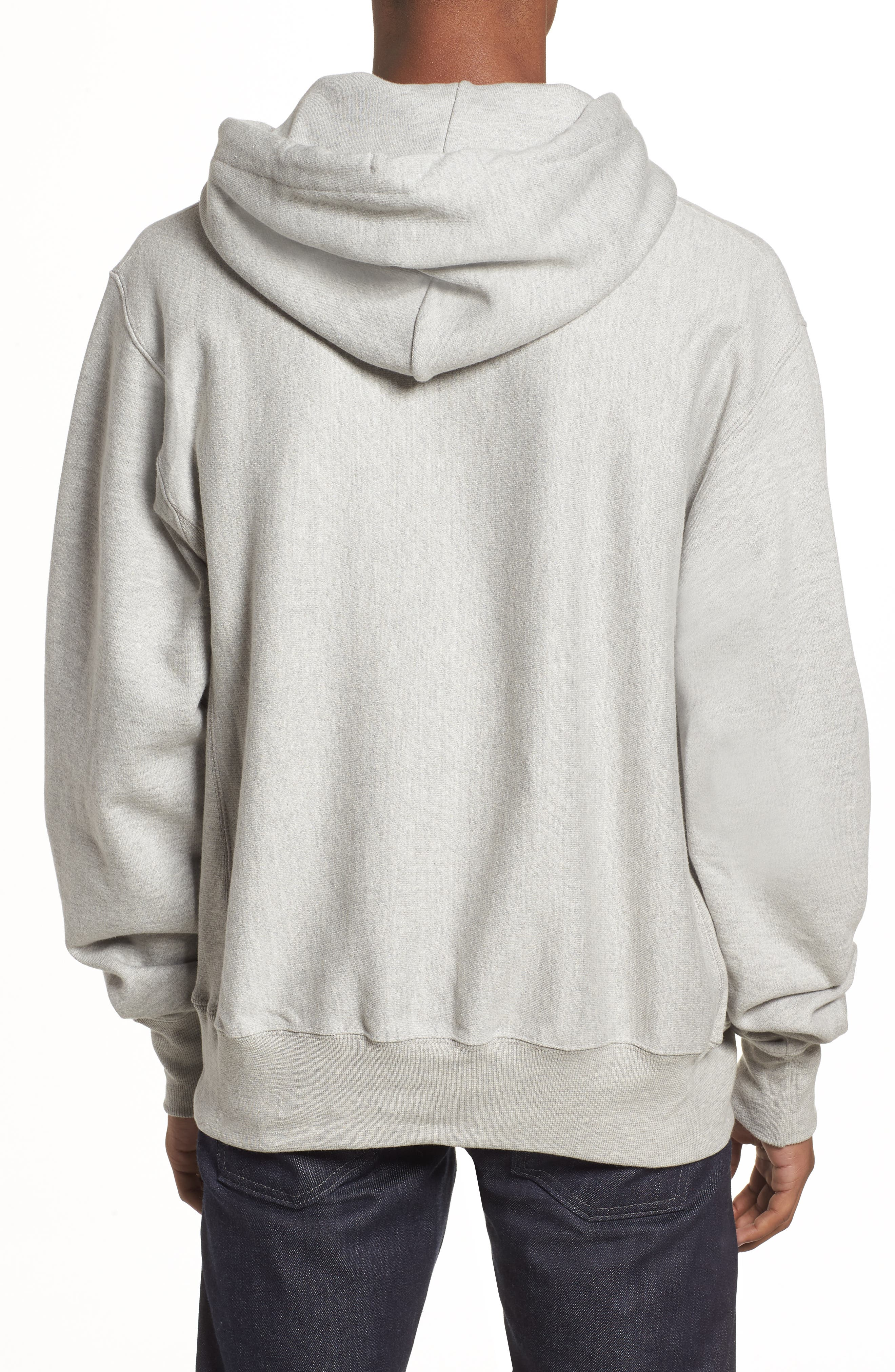 Snoopy Unisex Pullover Hoodie,                             Alternate thumbnail 3, color,                             Oxford Grey