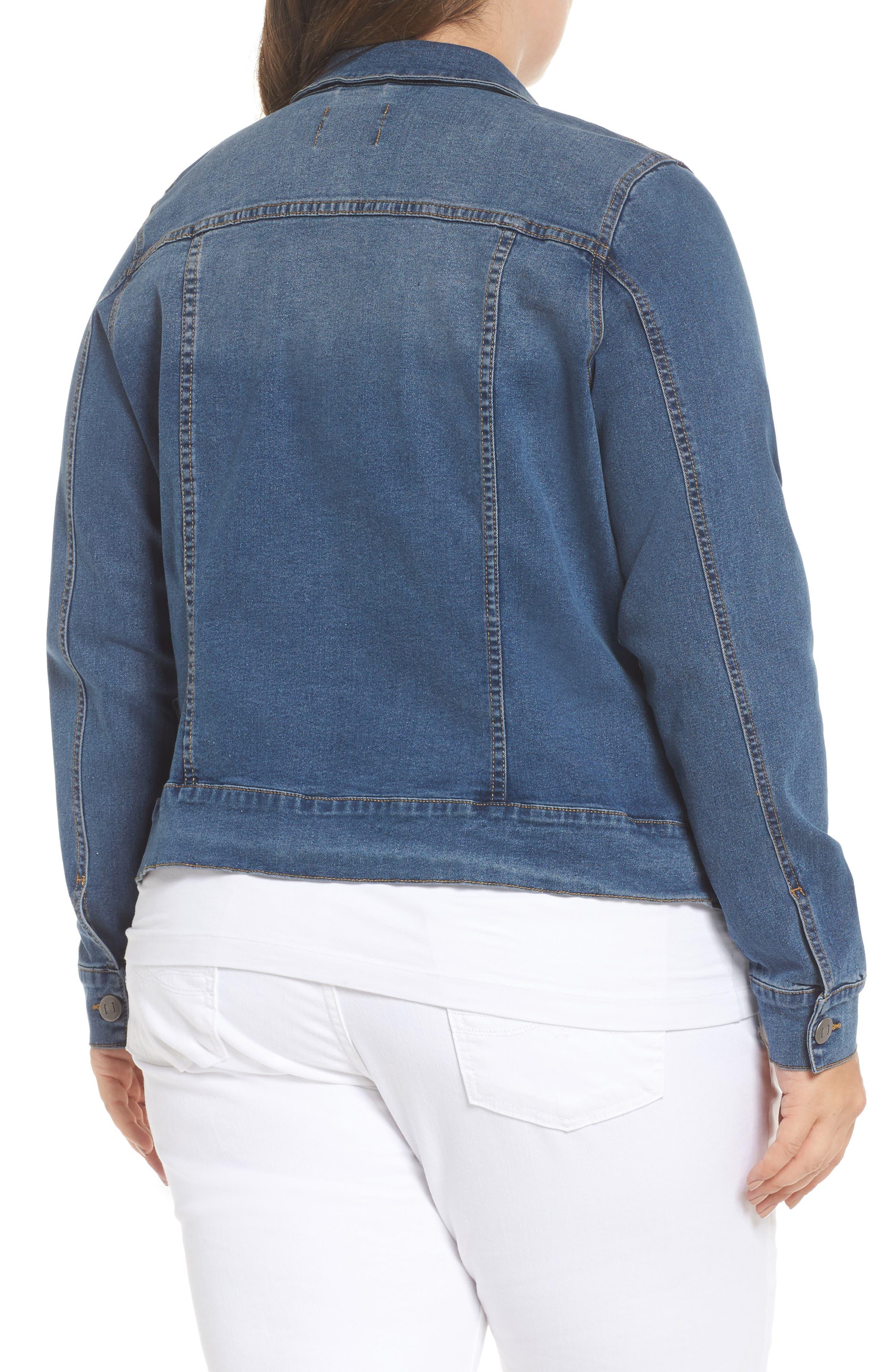 Alternate Image 3  - JUNAROSE Katla Denim Jacket (Plus Size)
