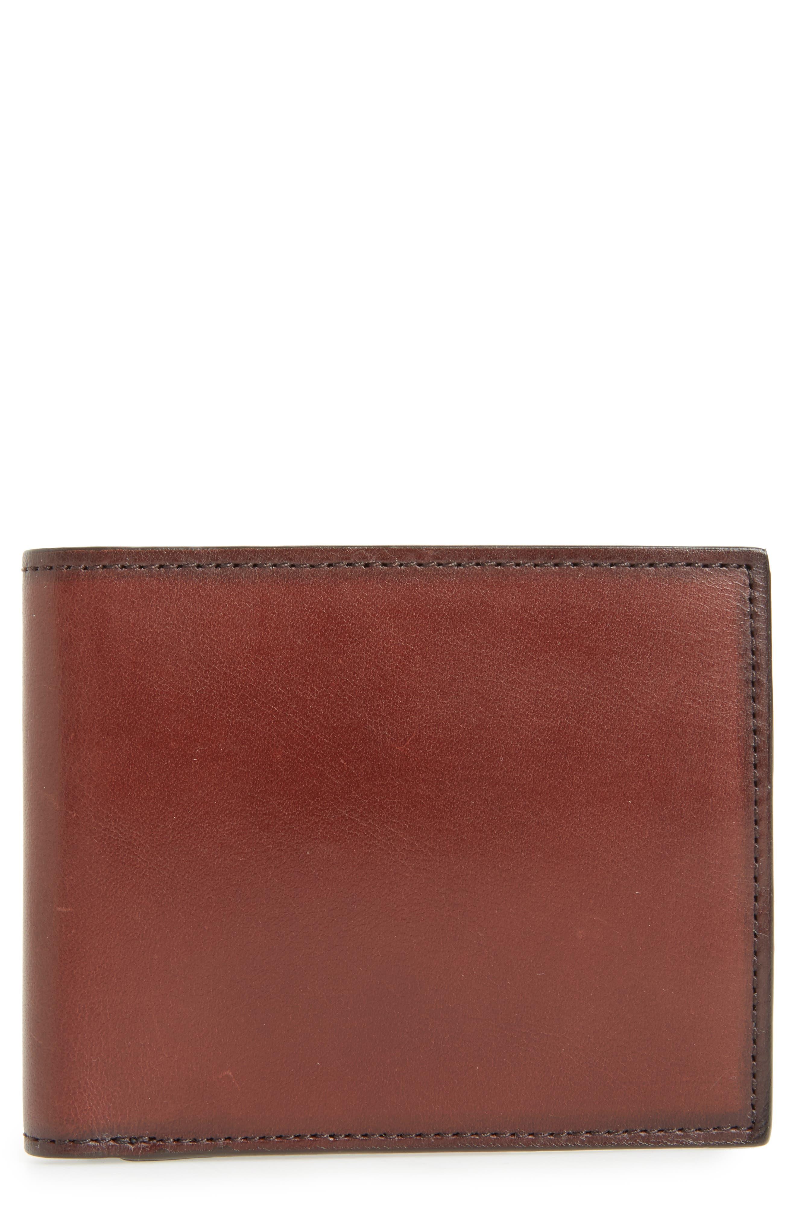 Parker Leather Wallet,                         Main,                         color, Brown