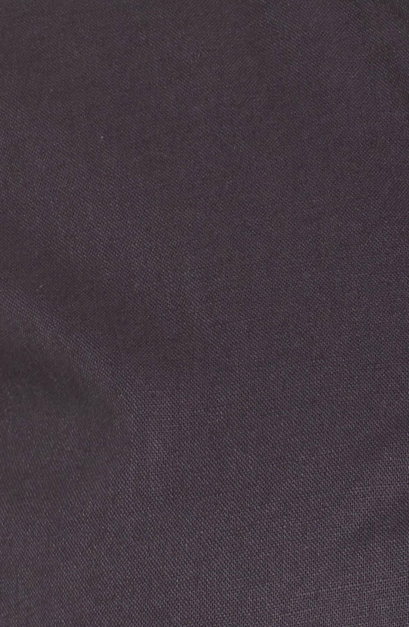 Tie Sleeve Utility Jacket,                             Alternate thumbnail 6, color,                             Grey Ebony