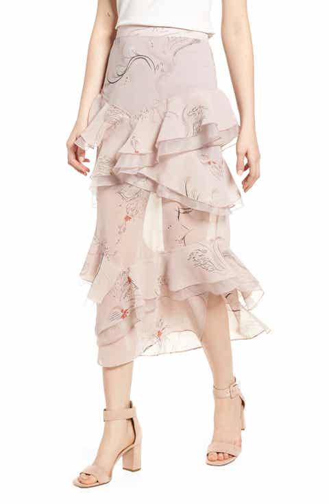 Chelsea28 Tiered Chiffon Skirt