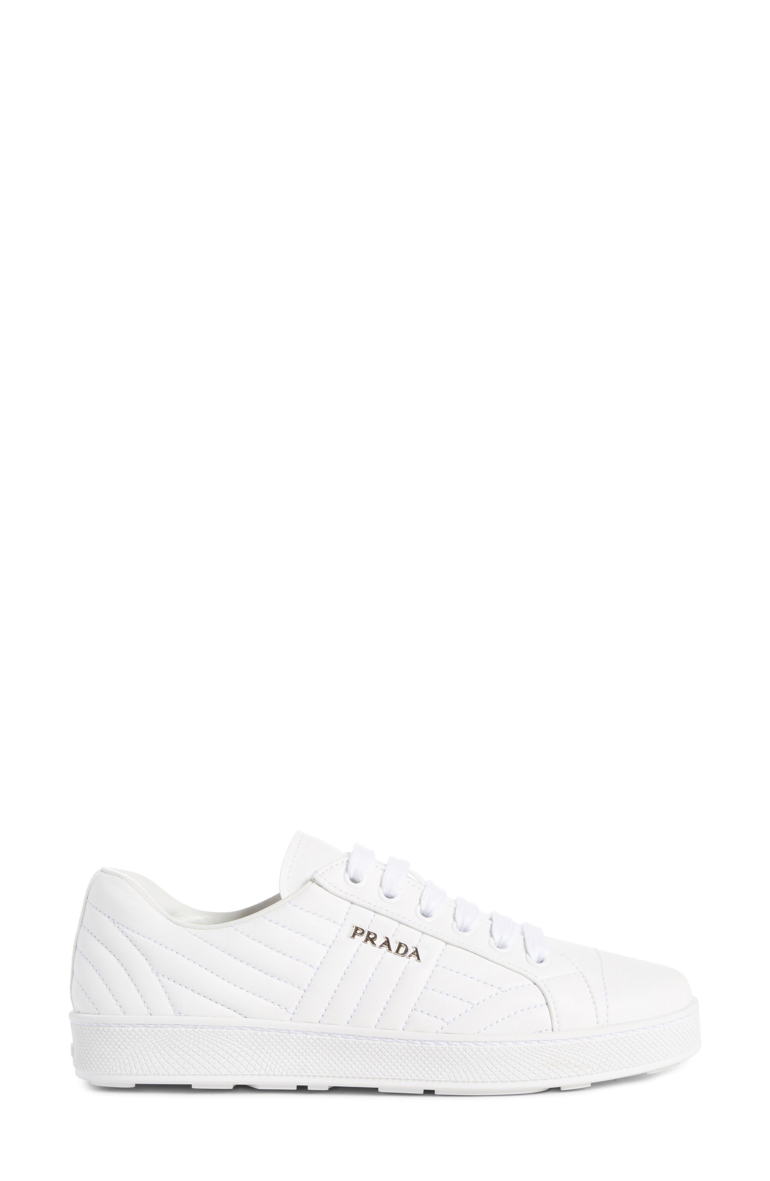 Alternate Image 4  - Prada Quilted Leather Sneaker (Women)