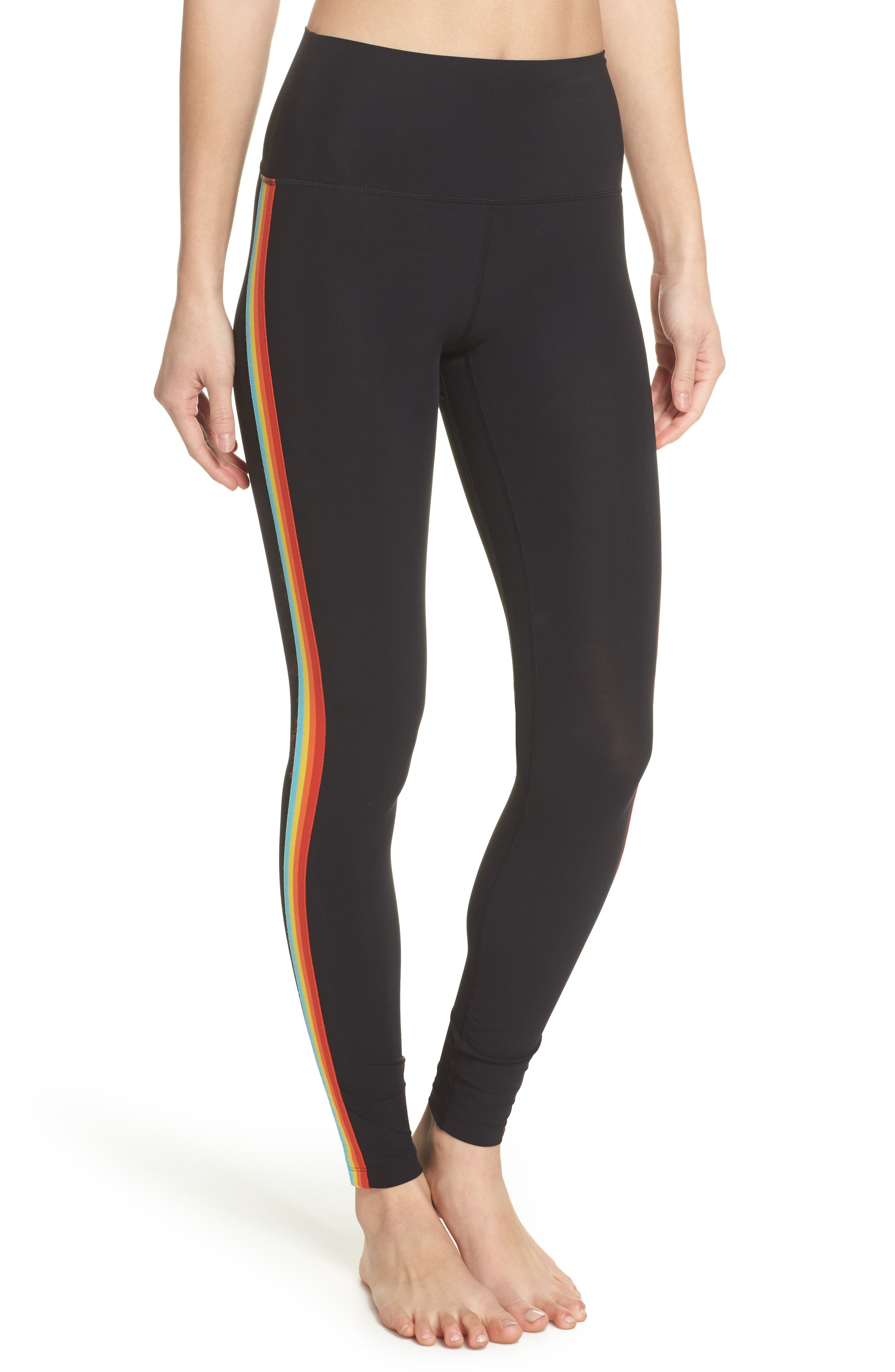 Rainbow Stripe Leggings by Spiritual Gangster