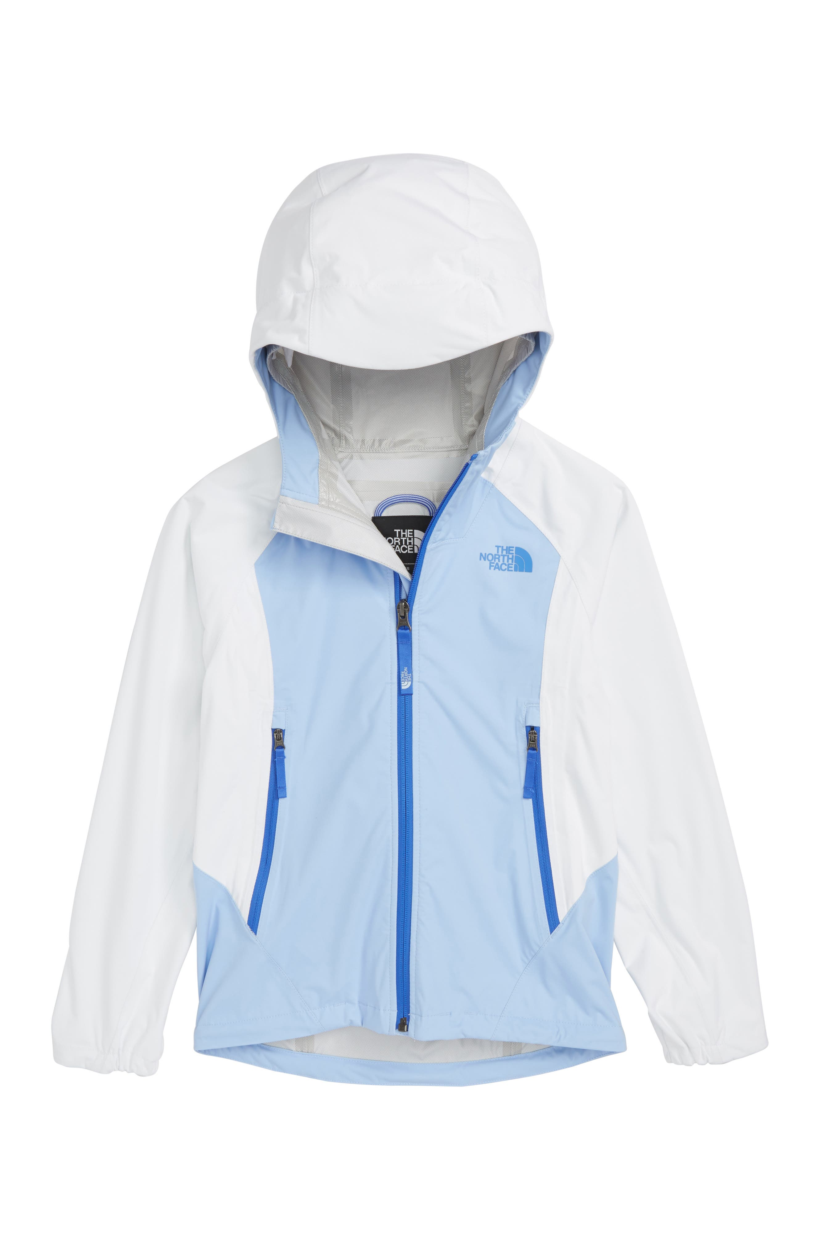 Allproof Stretch Hooded Rain Jacket,                             Main thumbnail 1, color,                             White