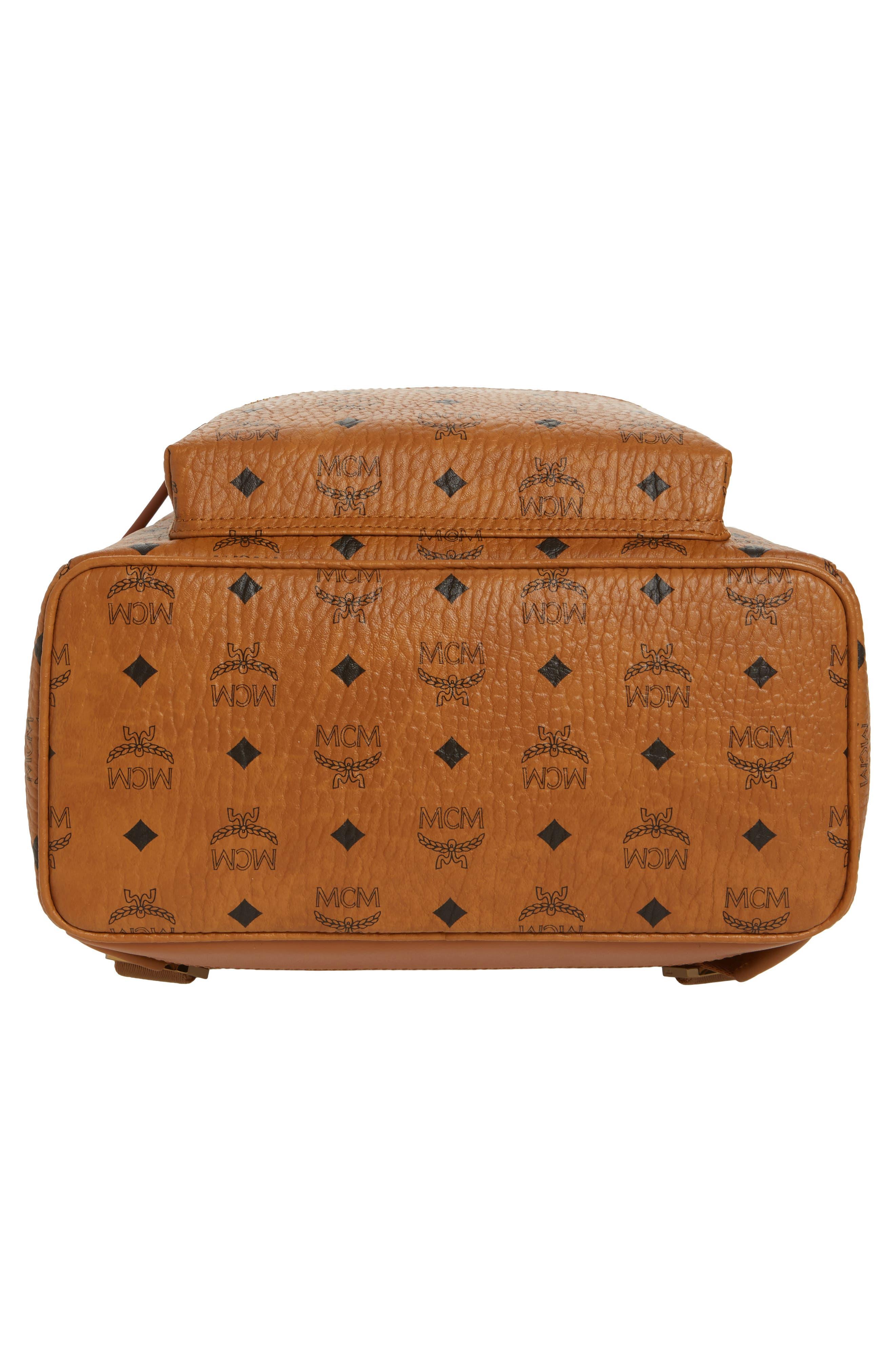 Medium Stark Side Stud Coated Canvas Backpack,                             Alternate thumbnail 6, color,                             Cognac