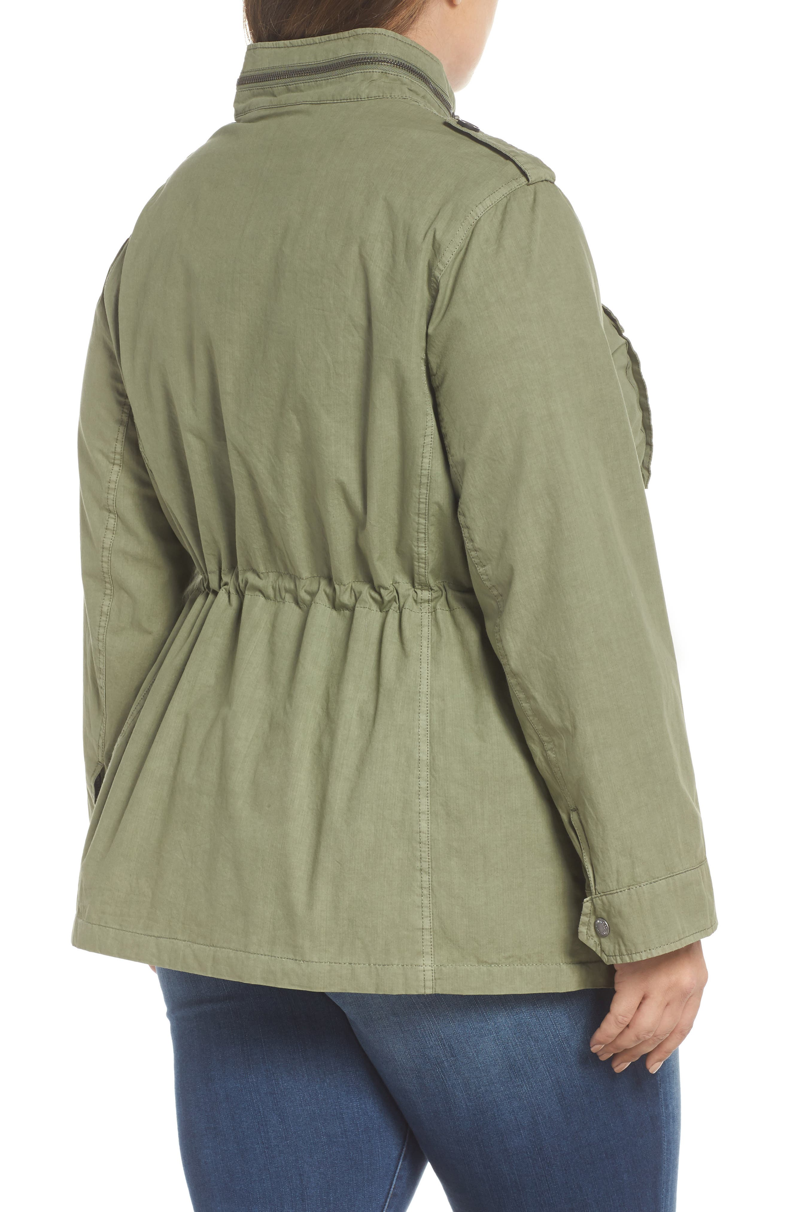 Cotton Military Jacket,                             Alternate thumbnail 2, color,                             Light Green