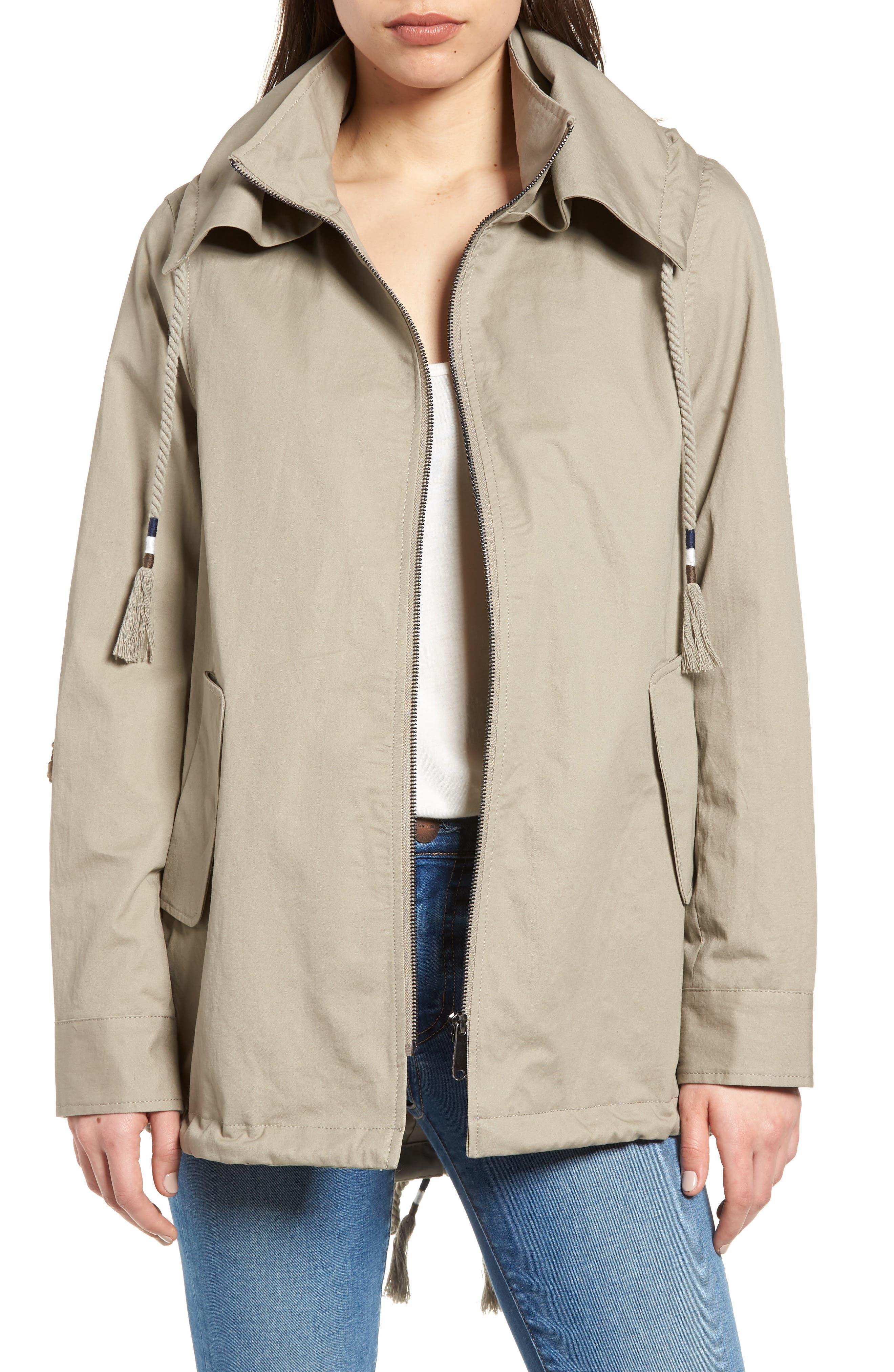 Sam Edelman Sequin Elbow Patch Anorak Jacket