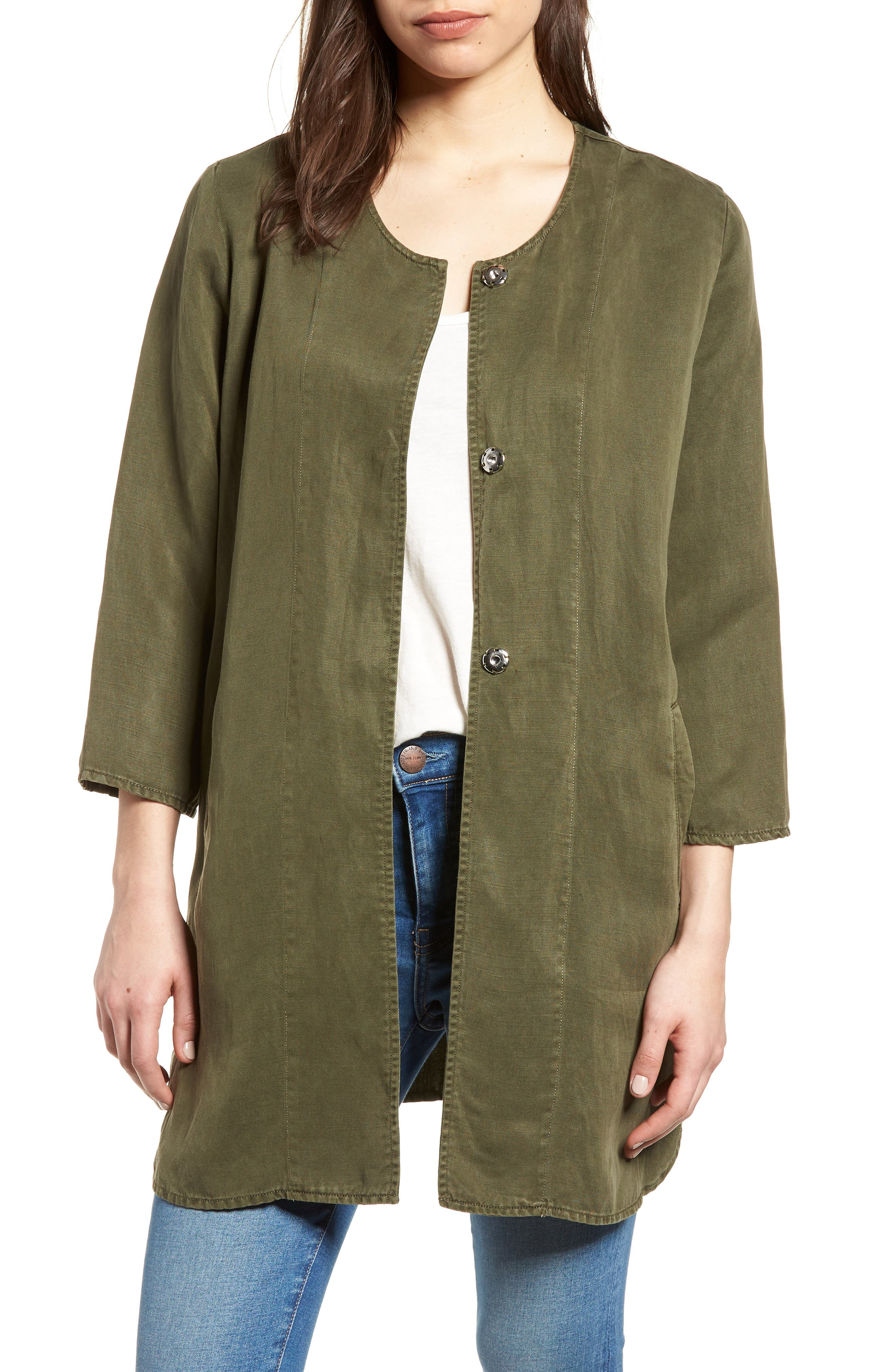 Tunic Jacket,                         Main,                         color, Olive