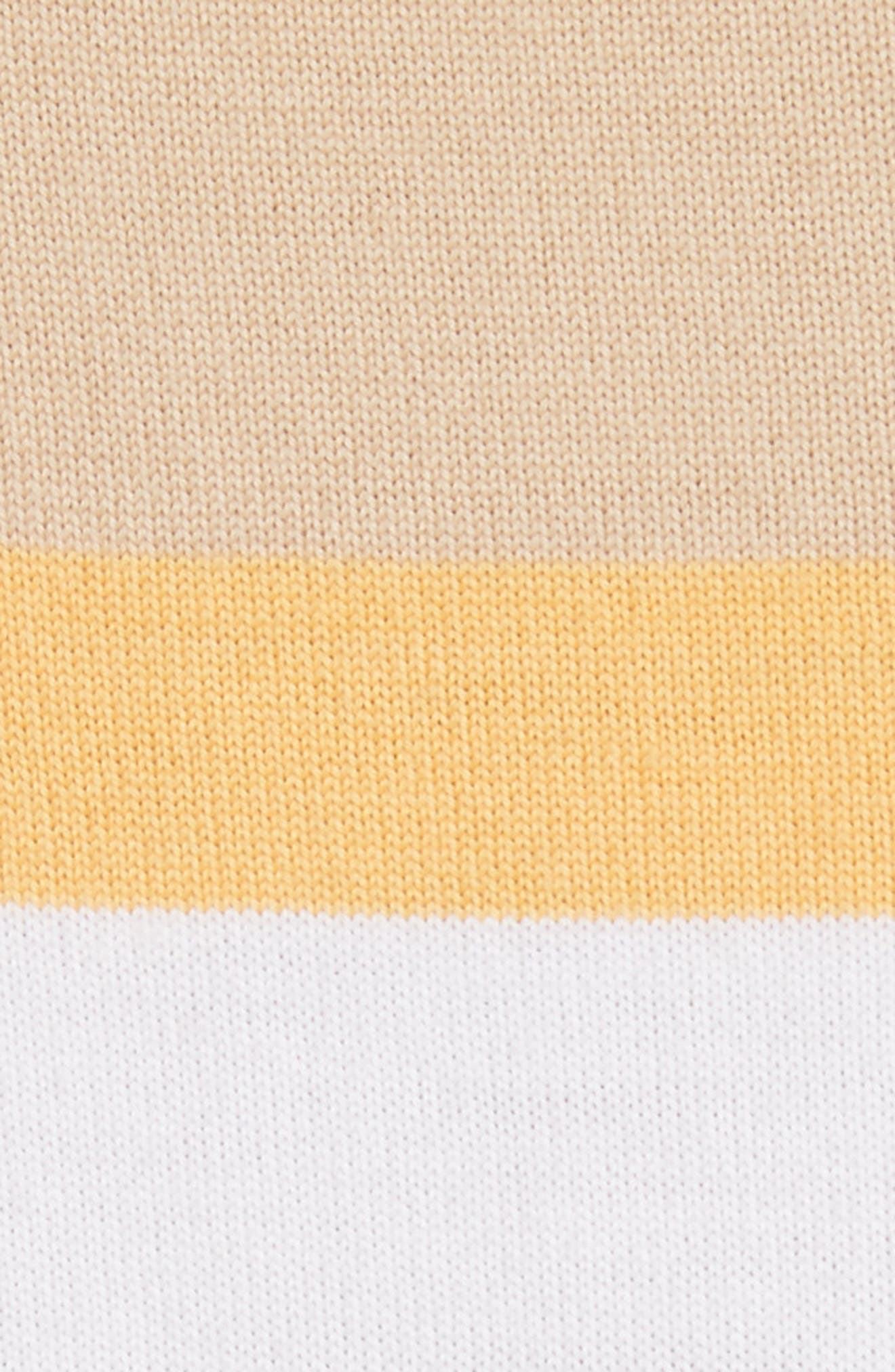 Stripe Jersey Knit Shell,                             Alternate thumbnail 5, color,                             White Multi